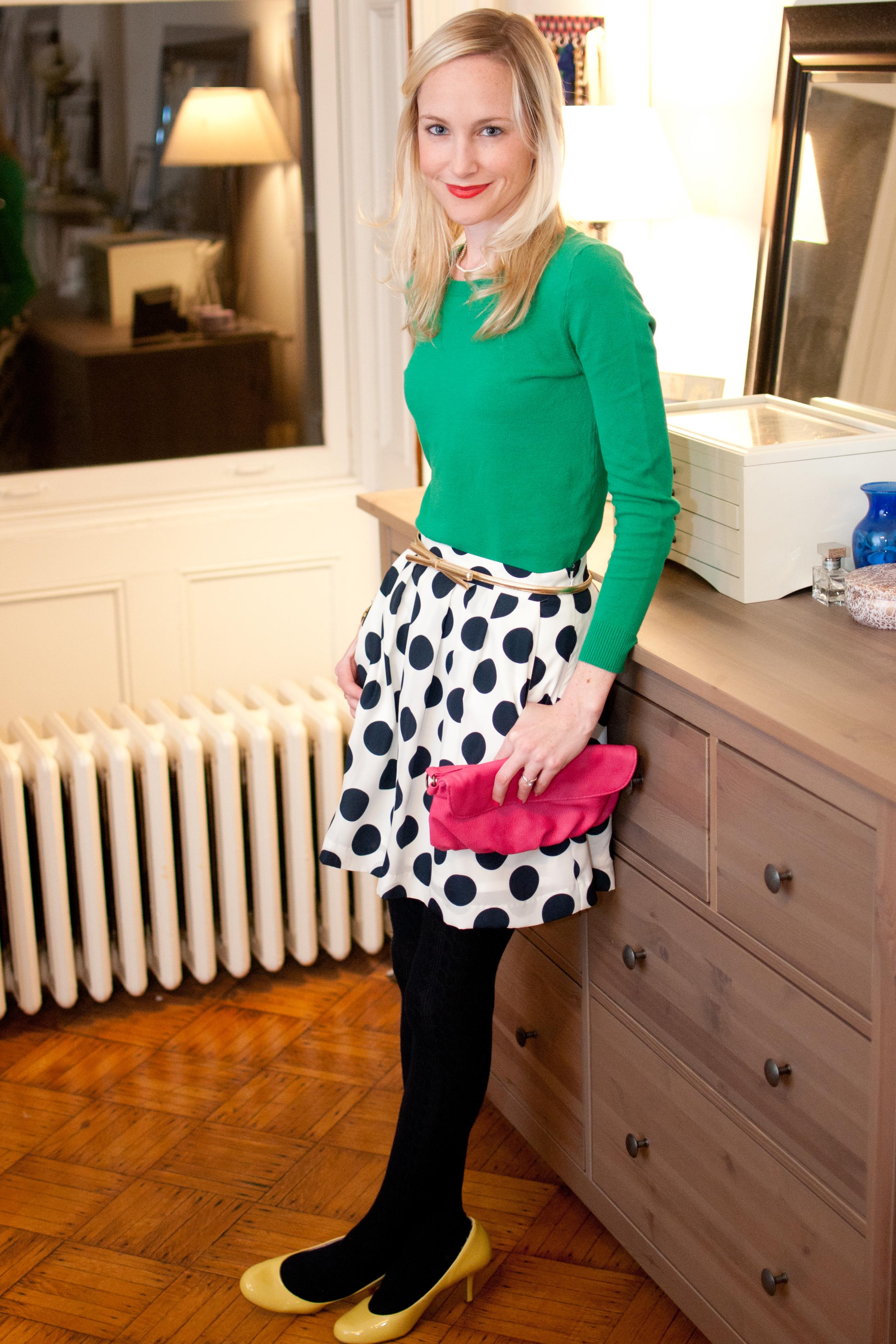 jcrew polka dot skirt-22