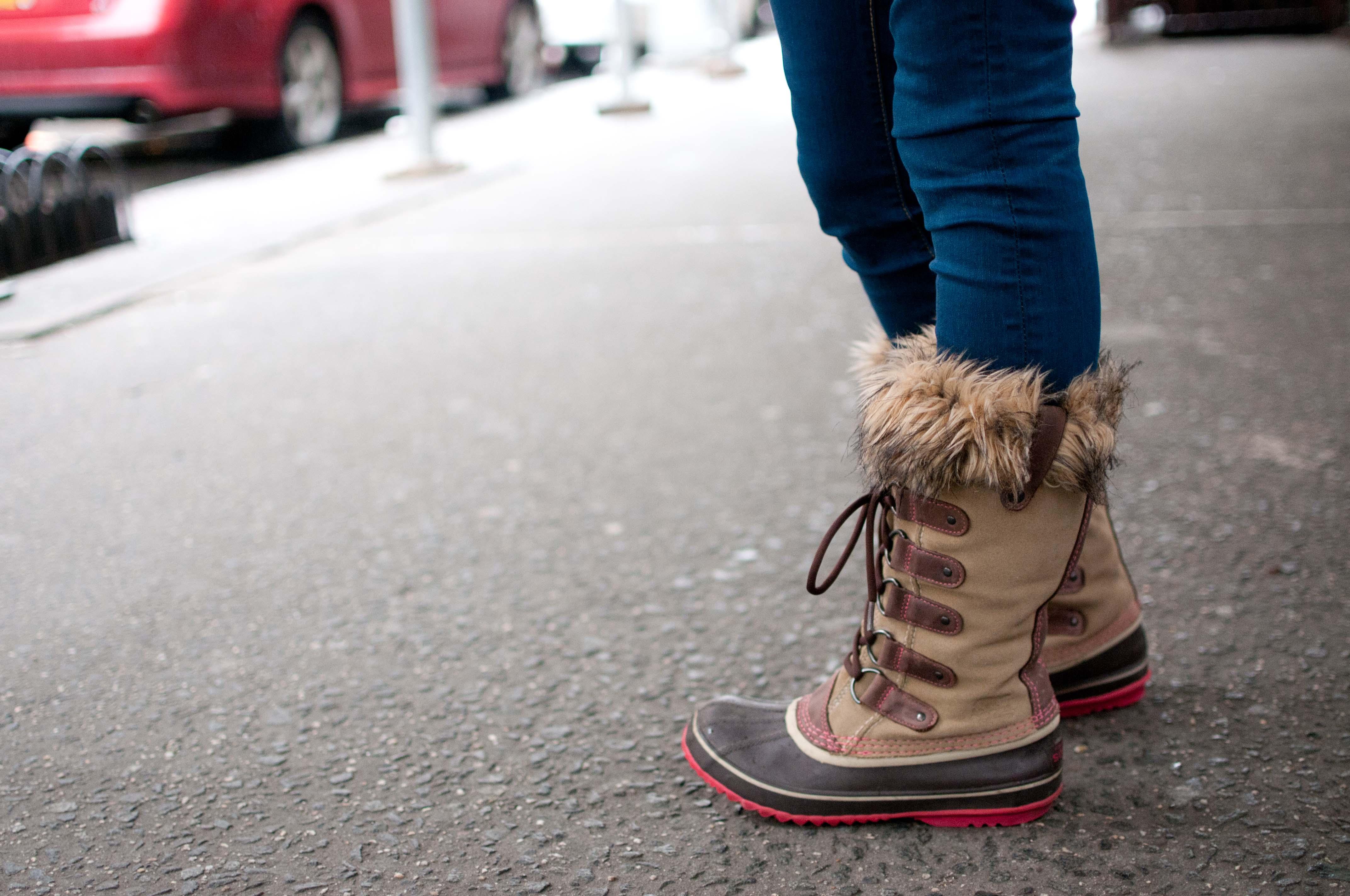 Pink Sorel Joan of Arctic Boots