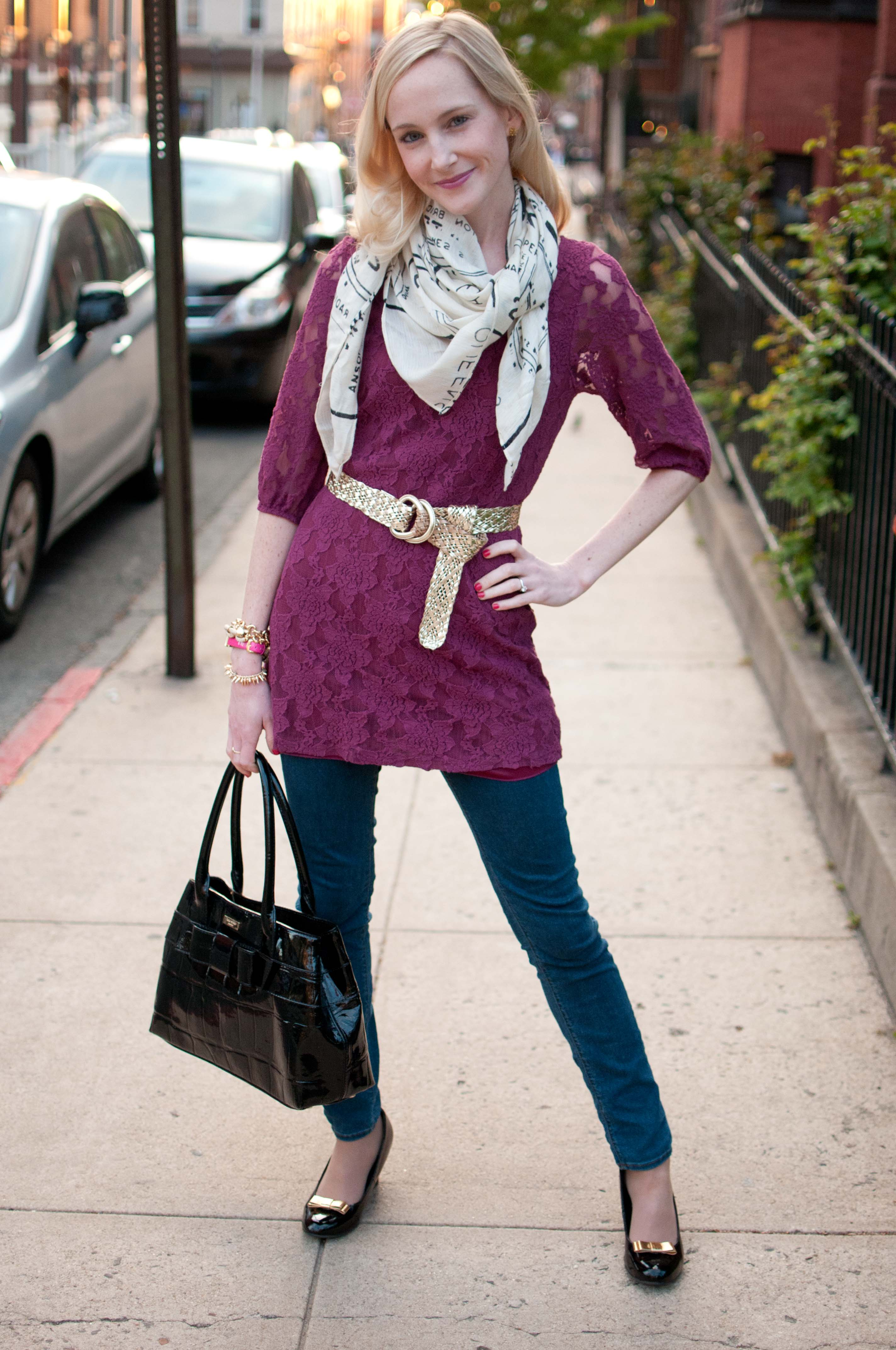 Map scarves and lace dresses turned lace tunics kelly in the city kellyinthecity sciox Image collections