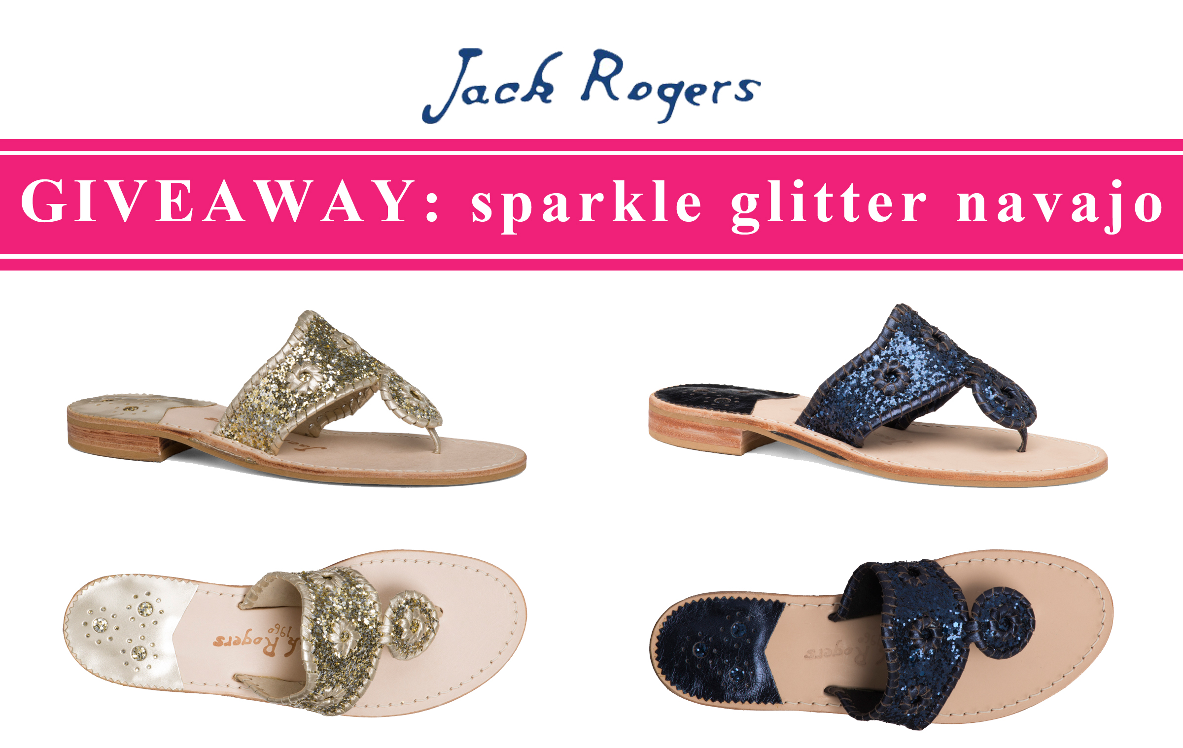 ccc21d2f40b4bf GIVEAWAY  Jack Rogers Sparkle Glitter Navajo Sandals - Kelly in the City