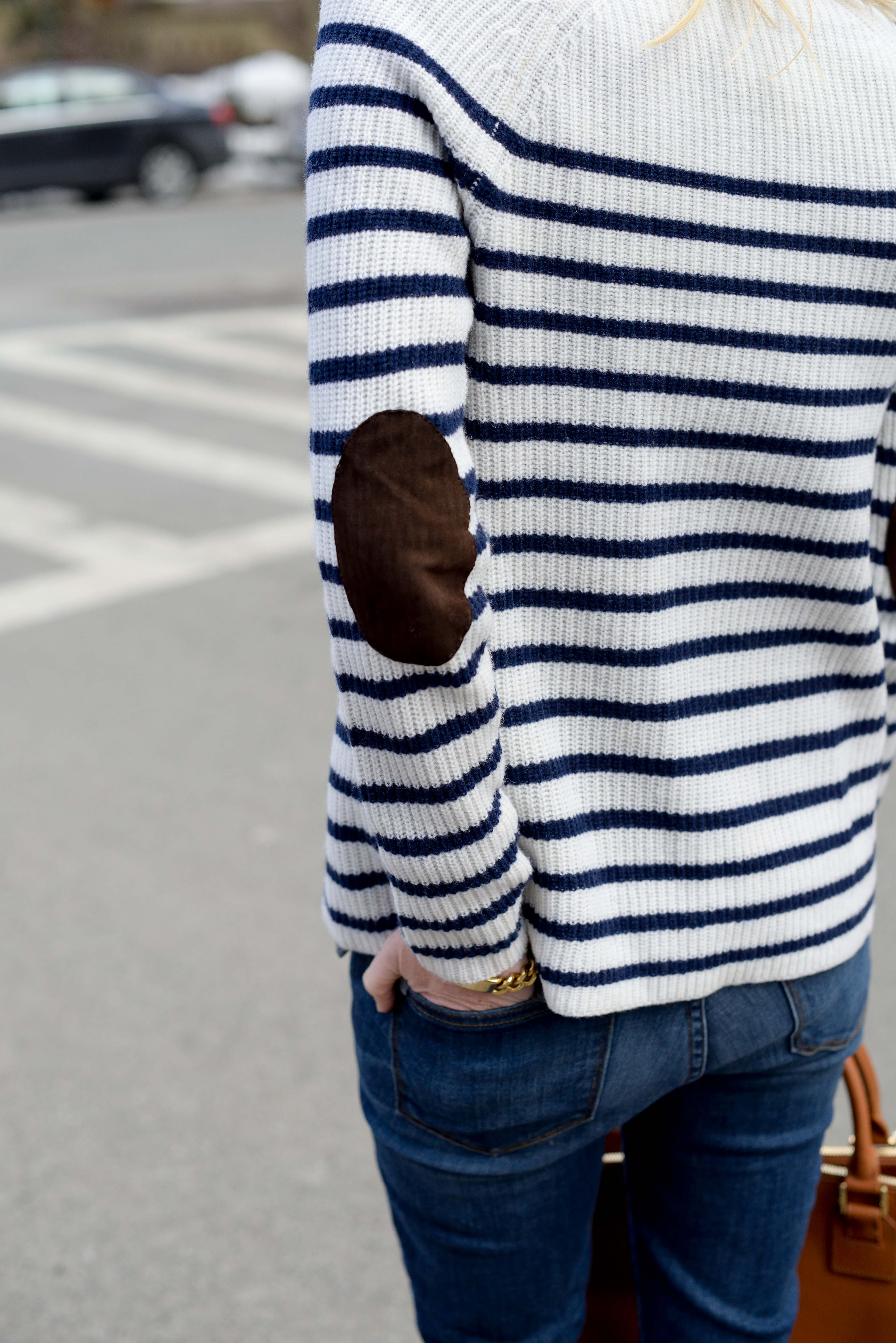 madewell striped elbow patch sweater-15