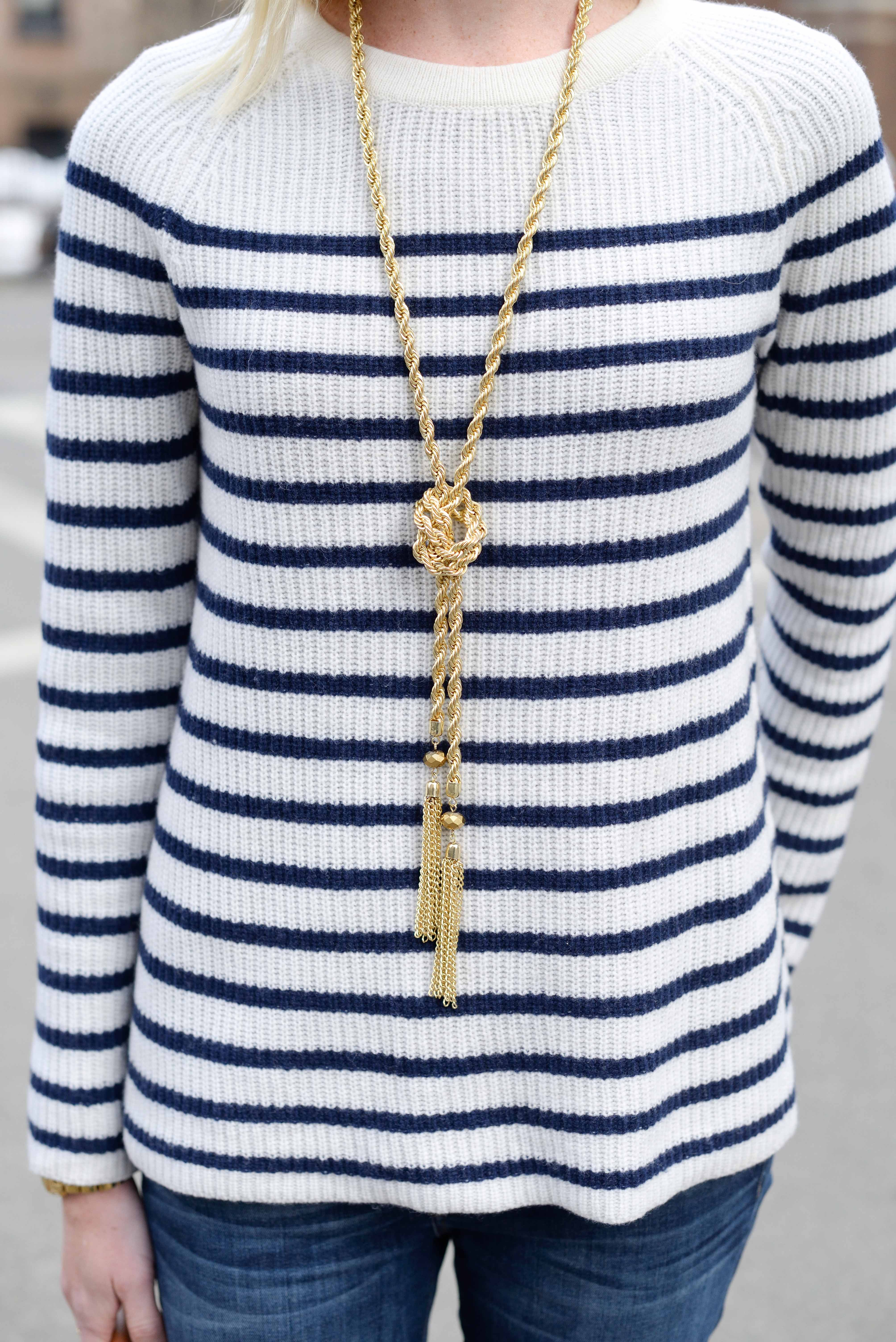 madewell striped elbow patch sweater-9