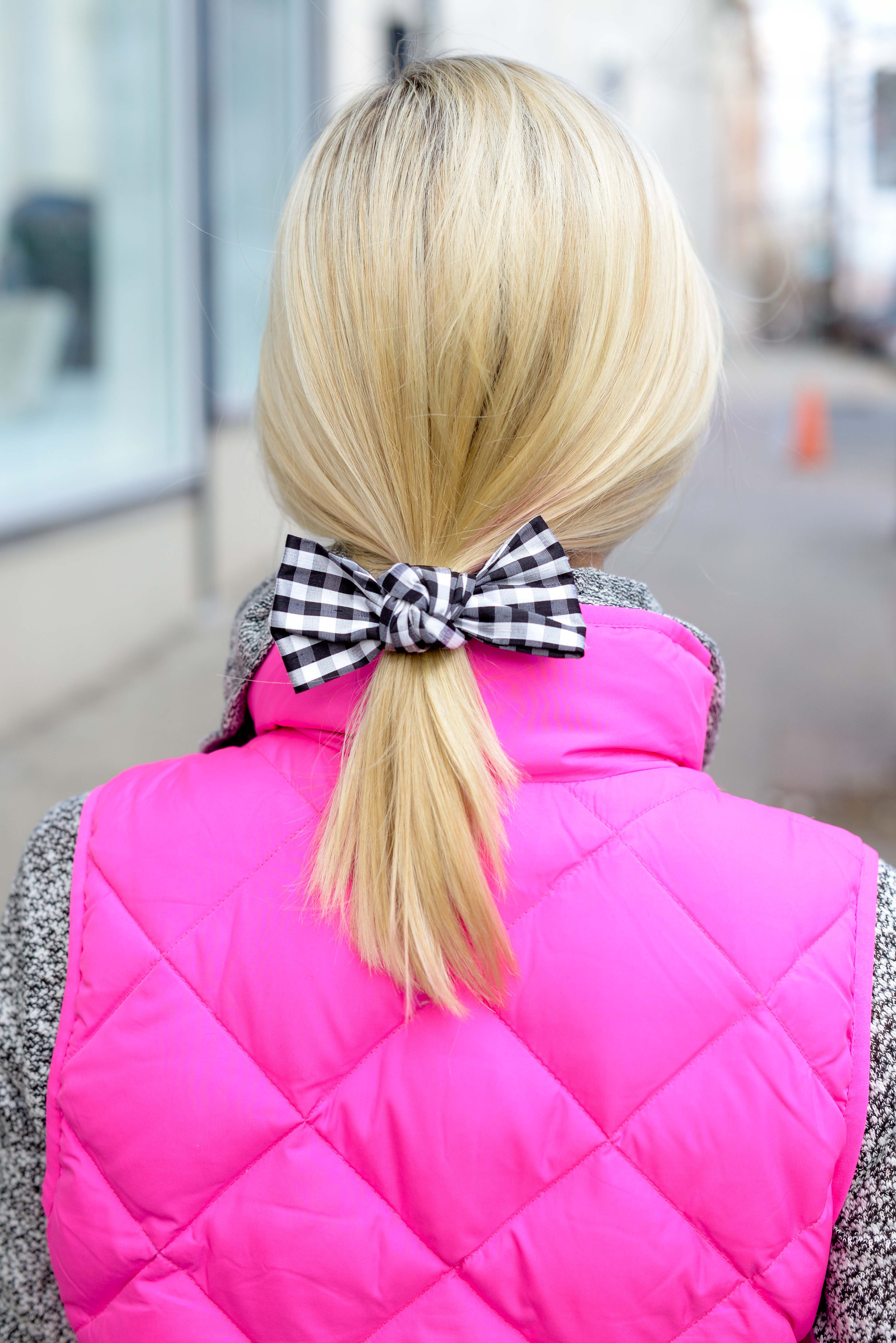 TGIF  Gingham Bows and Pink Accents - Kelly in the City 9315bf9bf3b