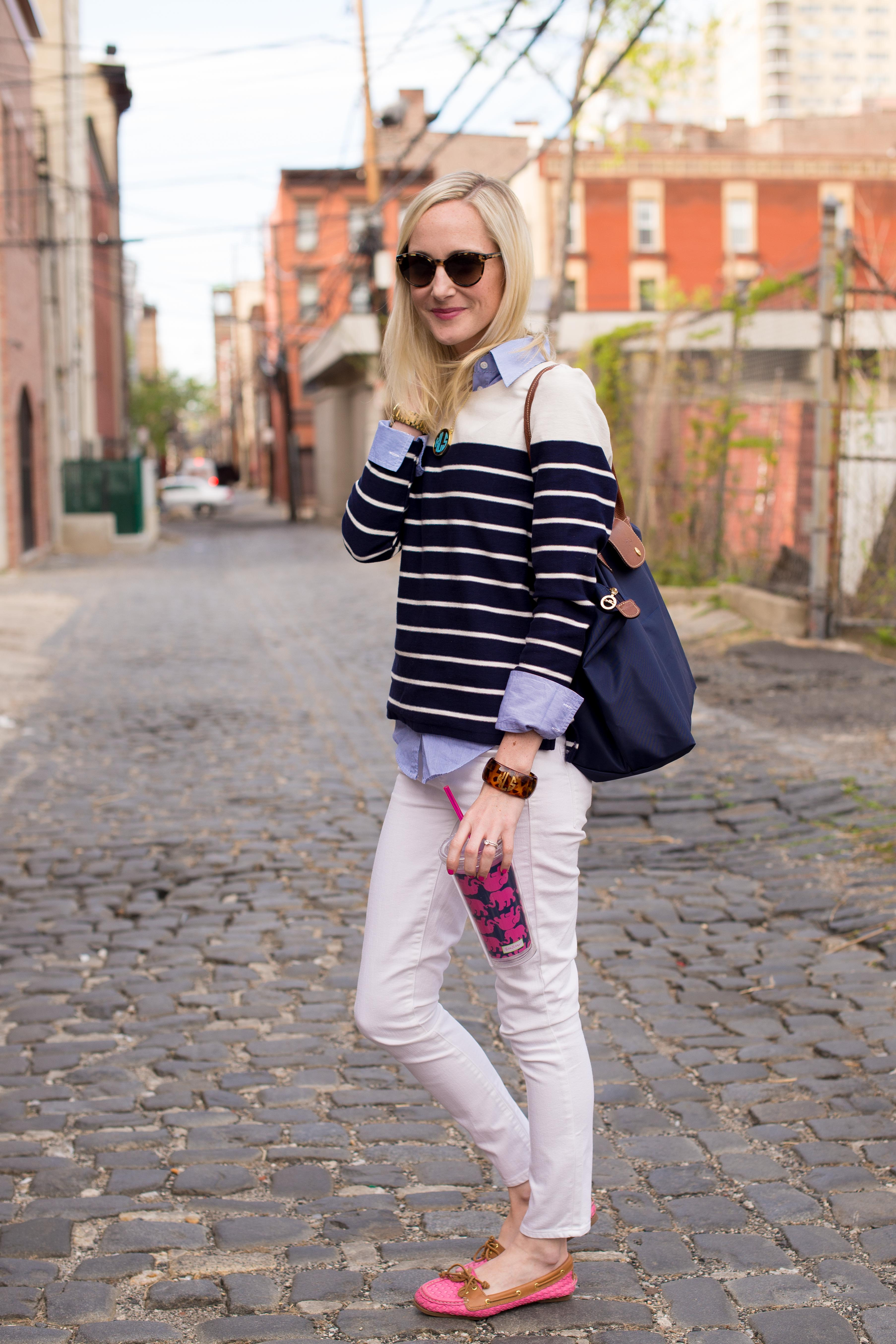 School Days Stripes Totes And Comfy Boat Shoes Kelly