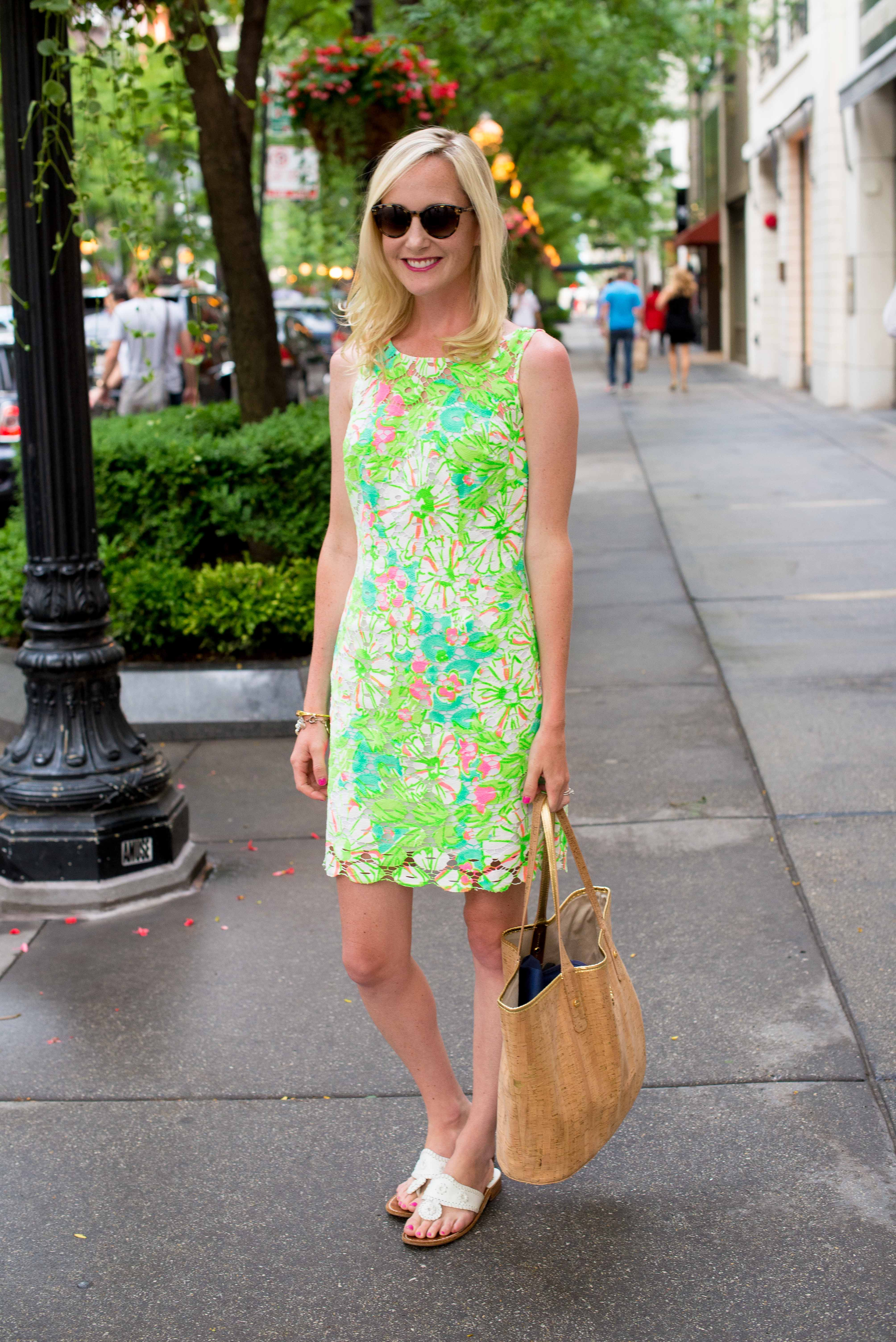 Lilly Pulitzer Neon Shiloh Dress-3