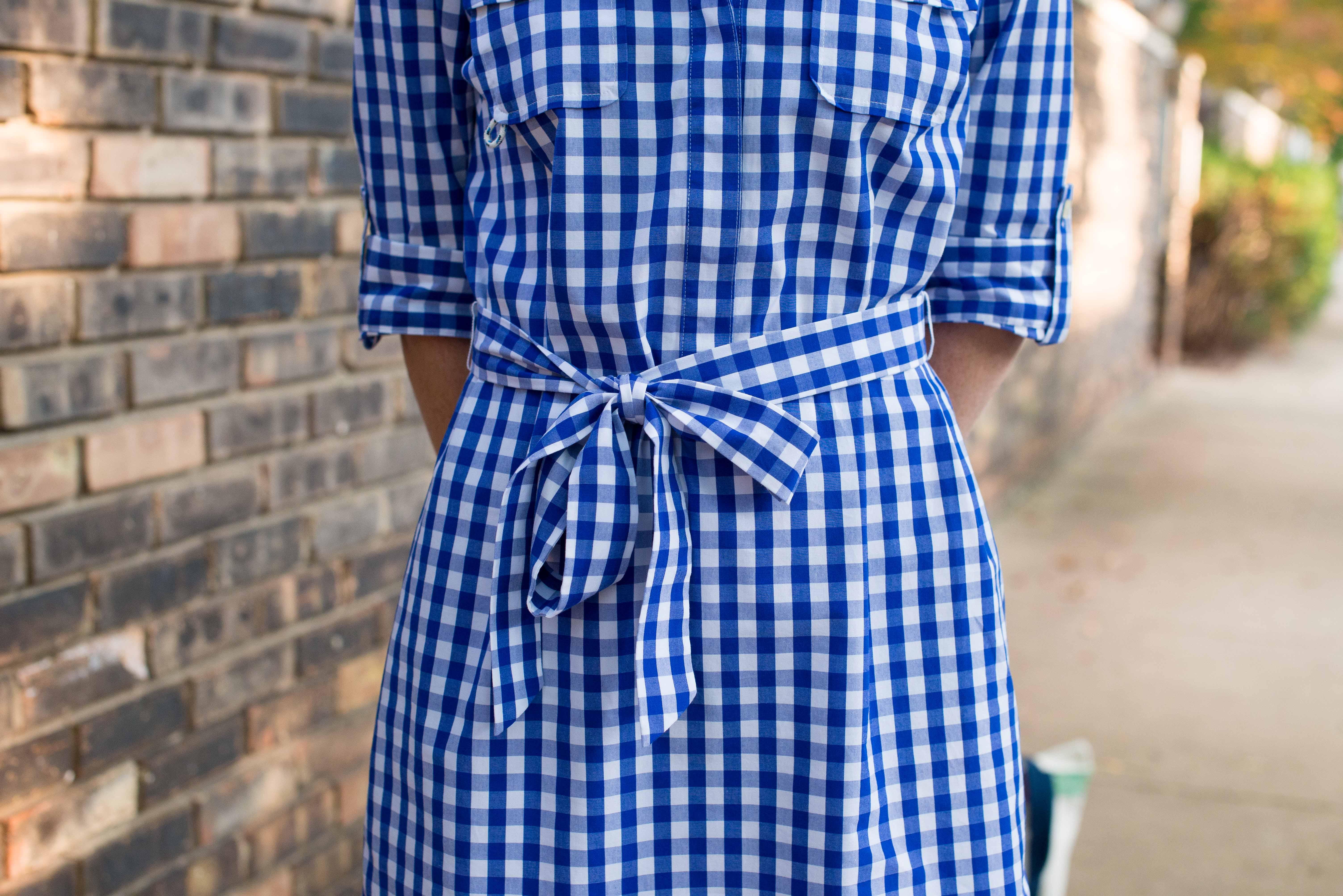 Vineyard Vines Gingham Harbor Shirtdress-5