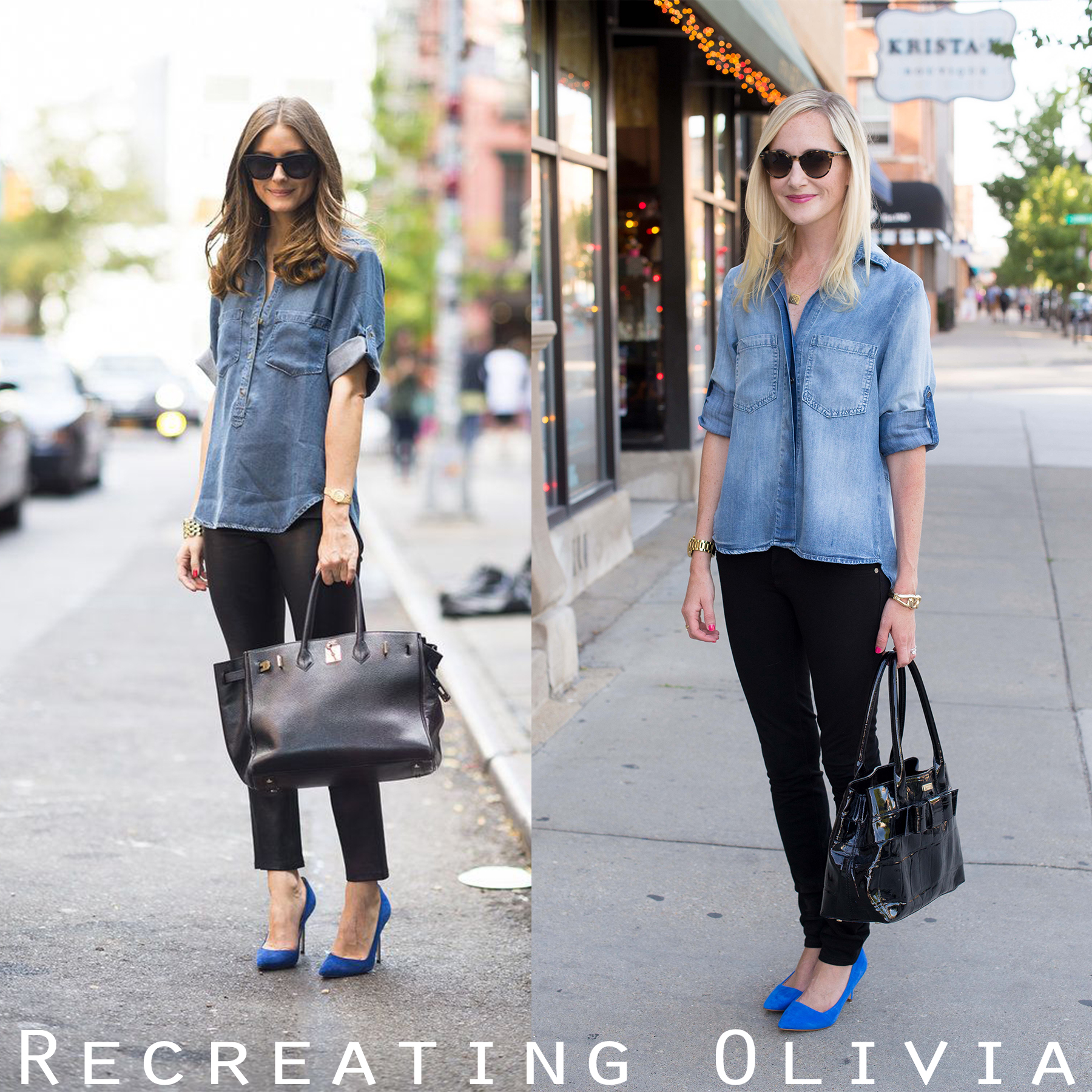 a58a87f028 Recreating the Olivia Palermo Chambray Look with Bella Dahl - Kelly ...