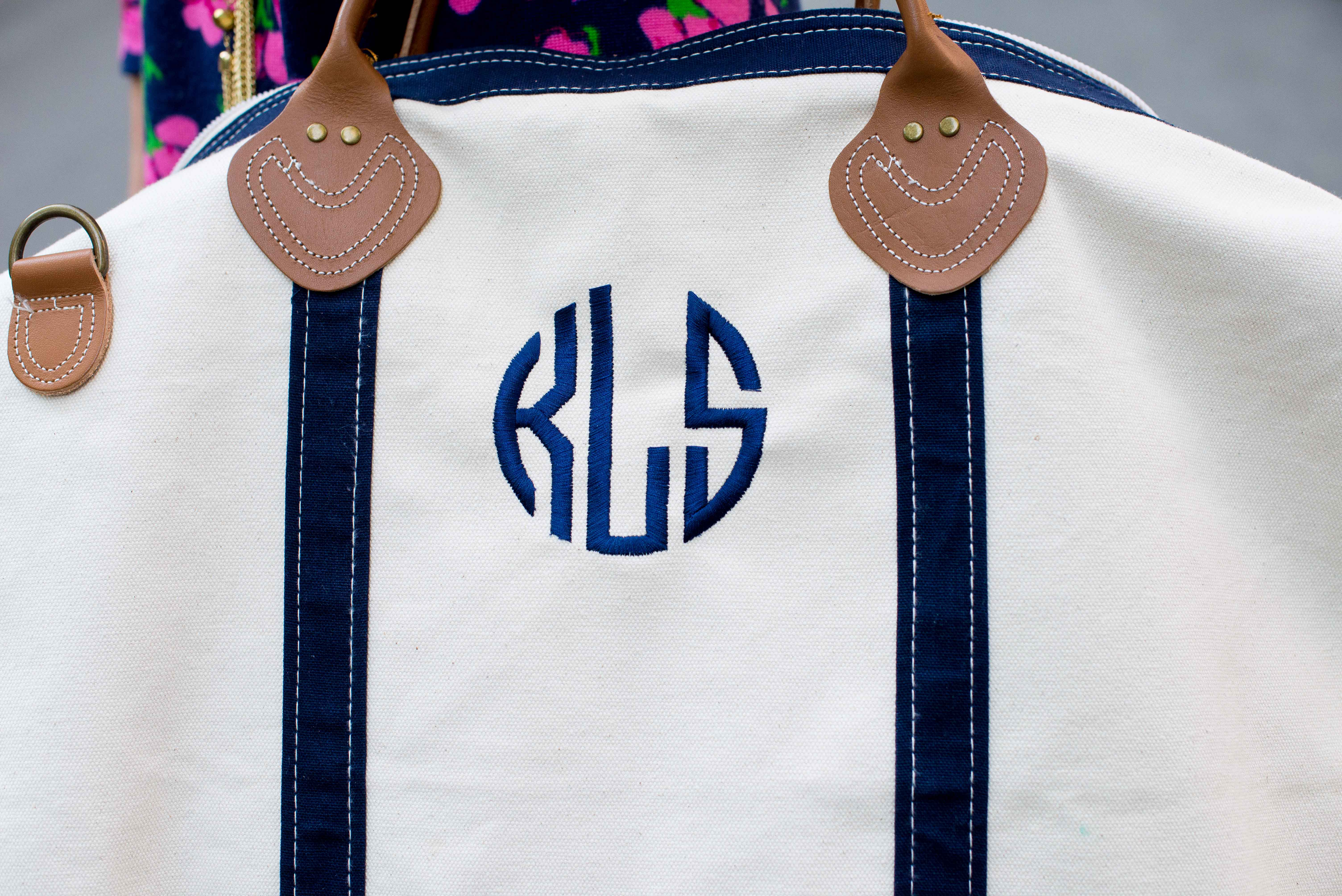 Monogrammed Duffle Bag-30