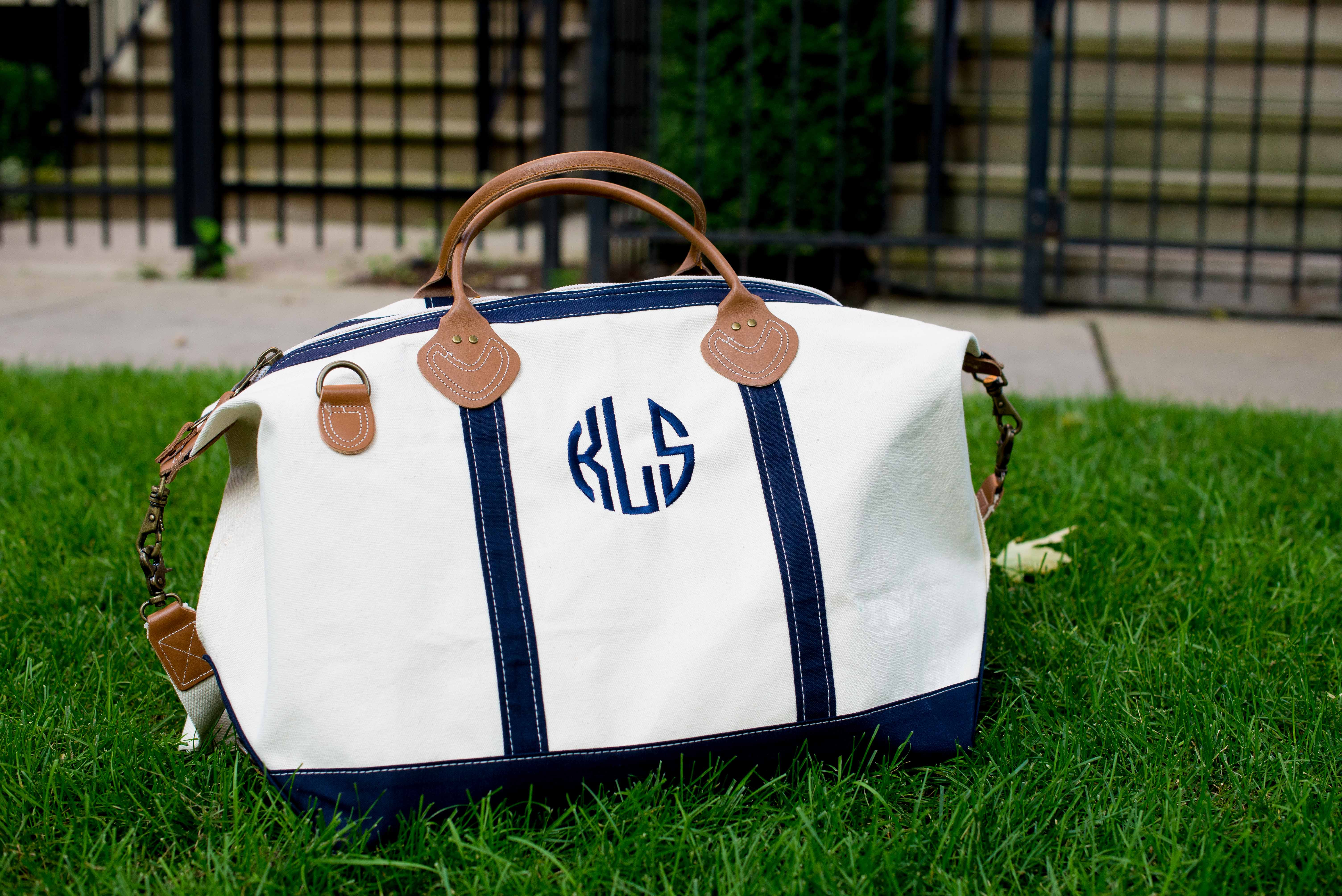 92bea5437b The Monogrammed Duffle Bag - Kelly in the City
