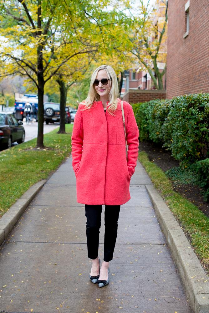 Asos New Look Collarless Wool Coat-7