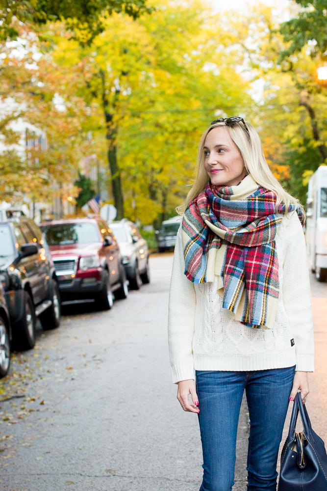 Plaid Blanket Scarf Zara Style Asos-17