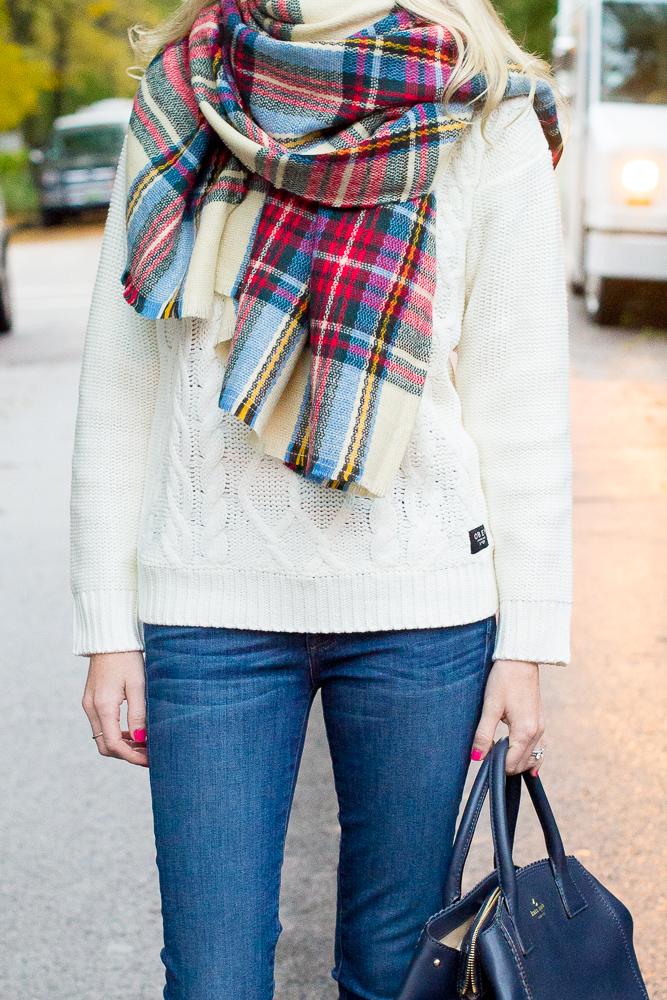 Plaid Blanket Scarf Zara Style Asos-19