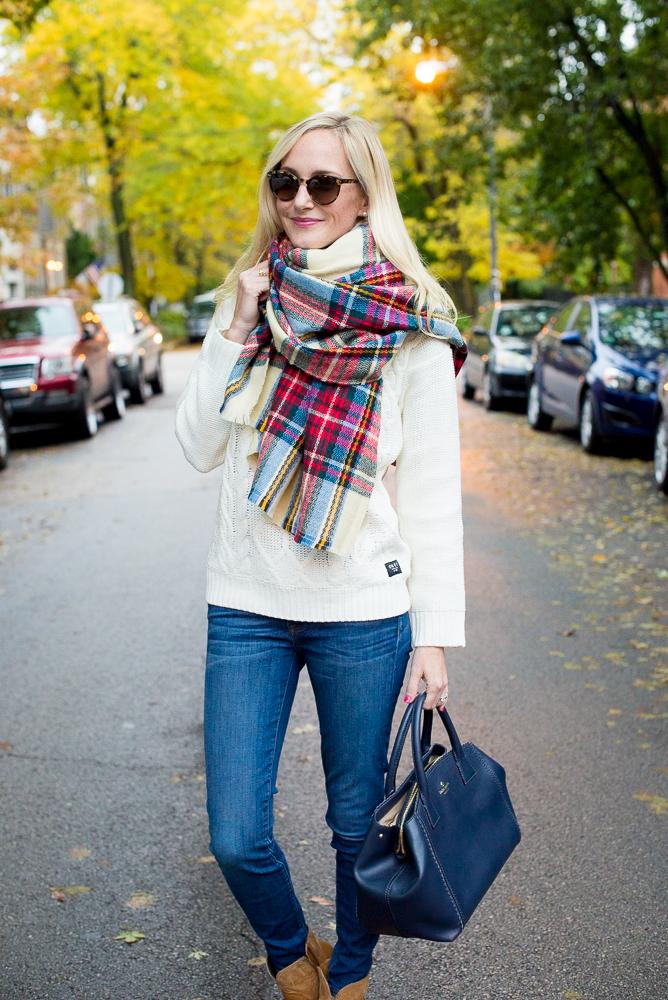 Plaid Blanket Scarf Zara Style Asos-29