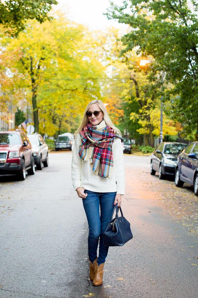 Plaid Blanket Scarf Zara Style Asos-31
