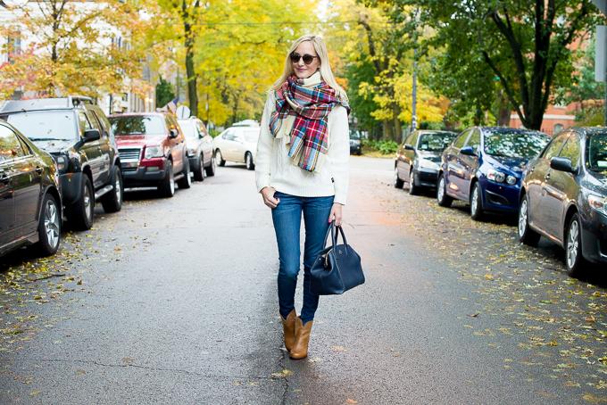 Plaid Blanket Scarf Zara Style Asos-33