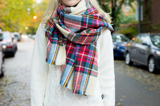 Plaid Blanket Scarf Zara Style Asos-36