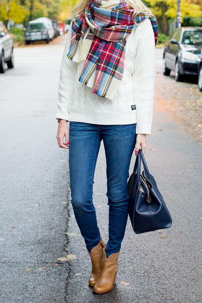 Plaid Blanket Scarf Zara Style Asos-42