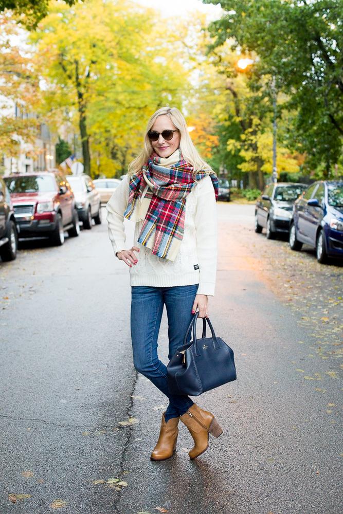 Plaid Blanket Scarf Zara Style Asos-43