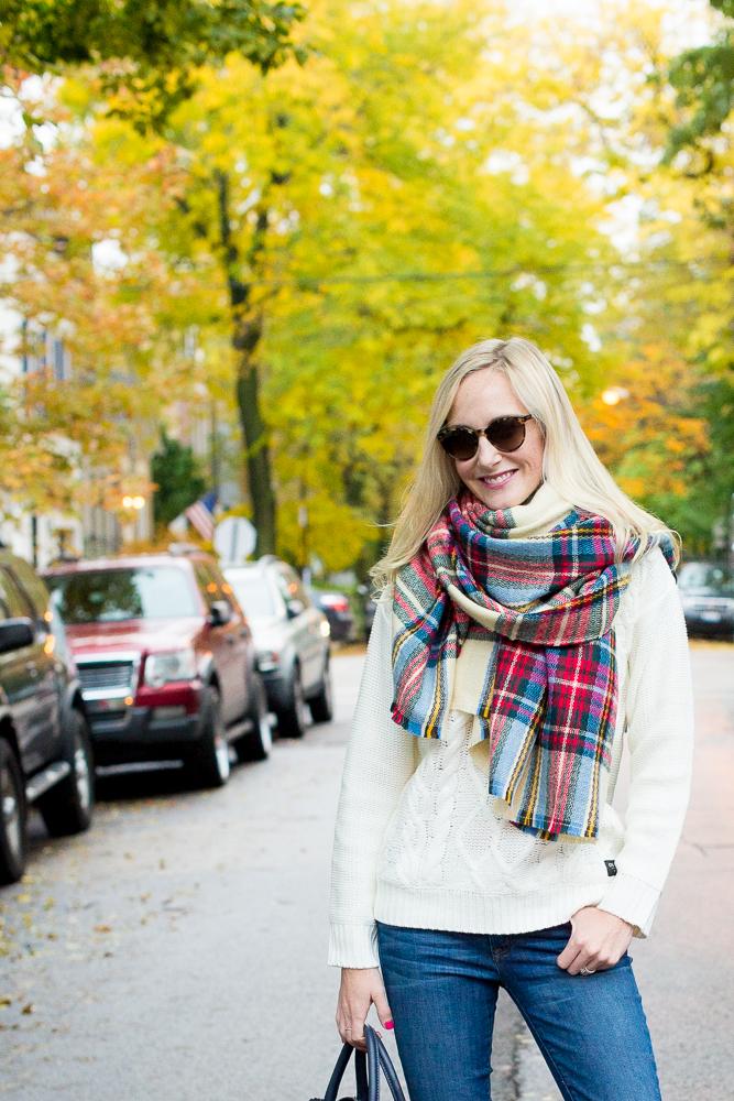 Plaid Blanket Scarf Zara Style Asos-7