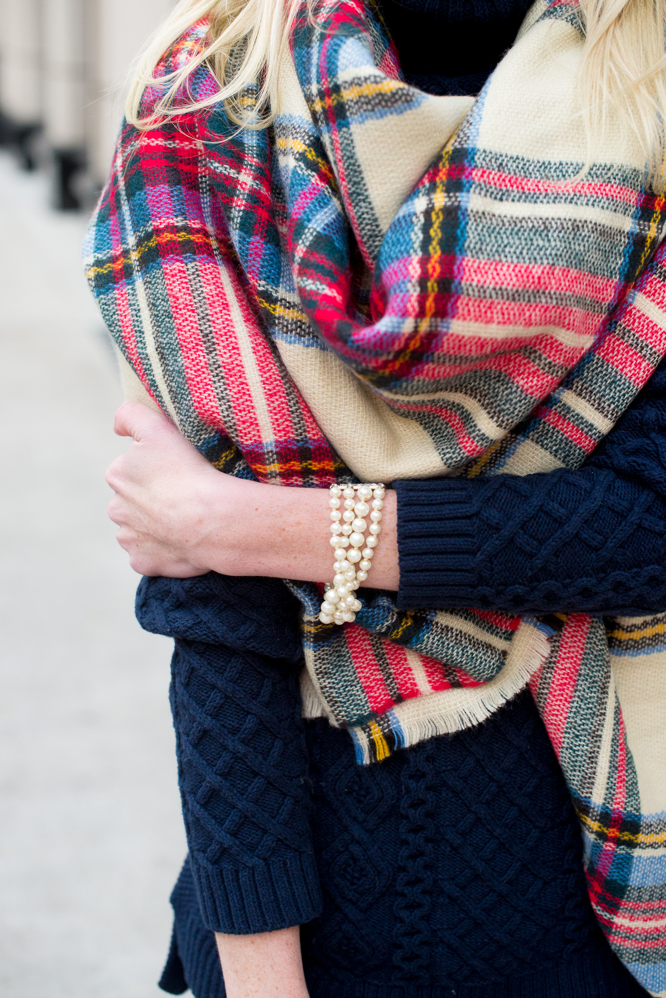 Plaid Blanket Scarf-10