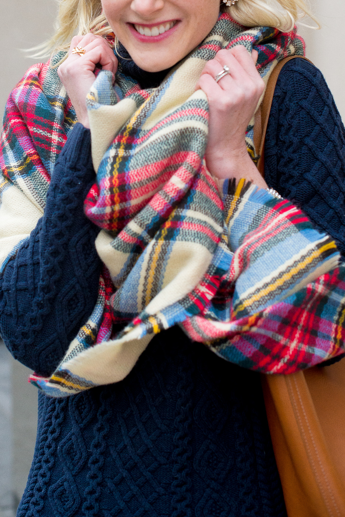 Plaid Blanket Scarf-15