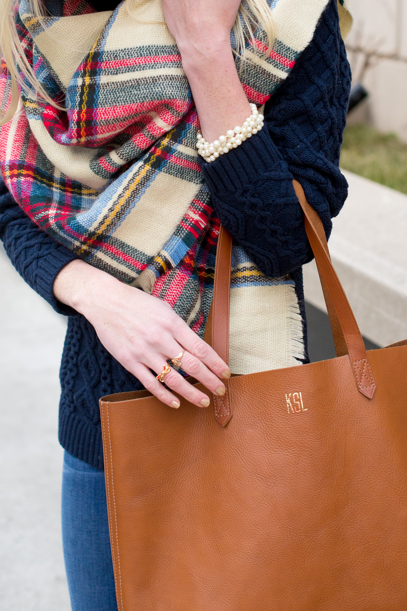 Plaid Blanket Scarf-7