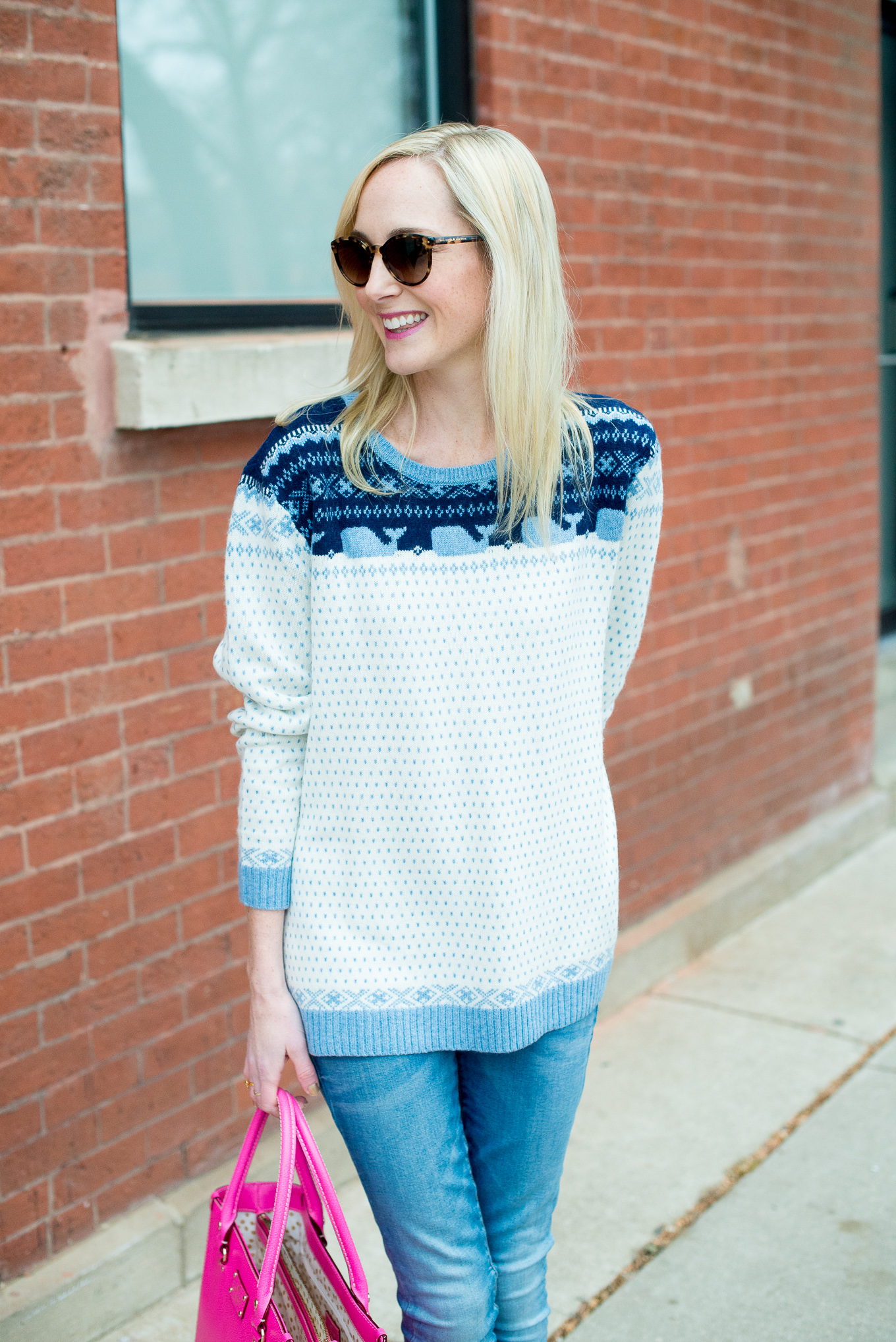 Fair Isle Sweaters and Monogrammed Bangles - Kelly in the City