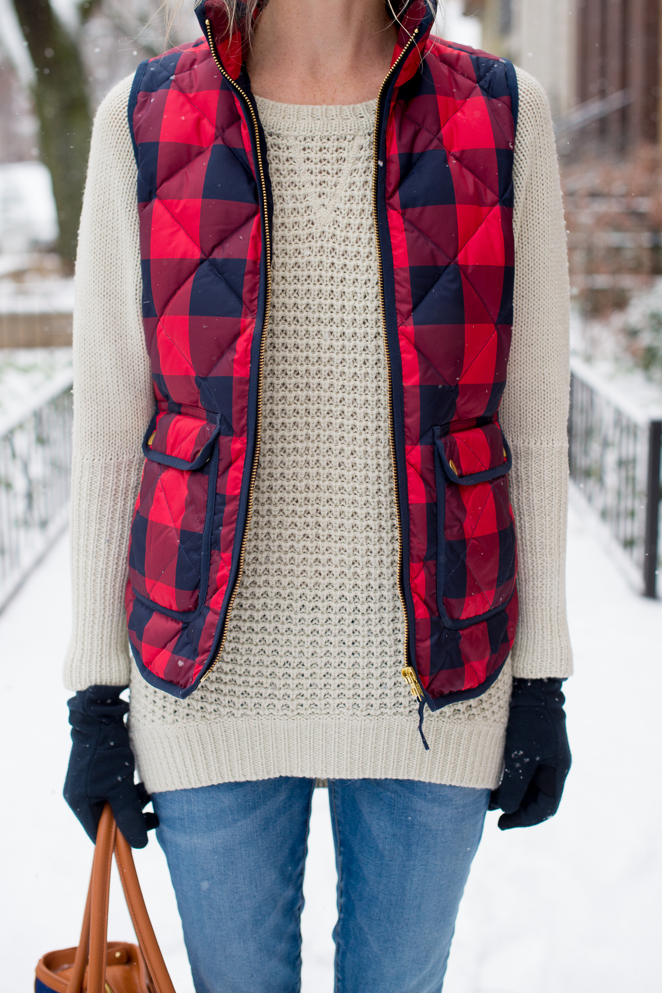 J Crew Buffalo Plaid Check Vest Kelly In The City