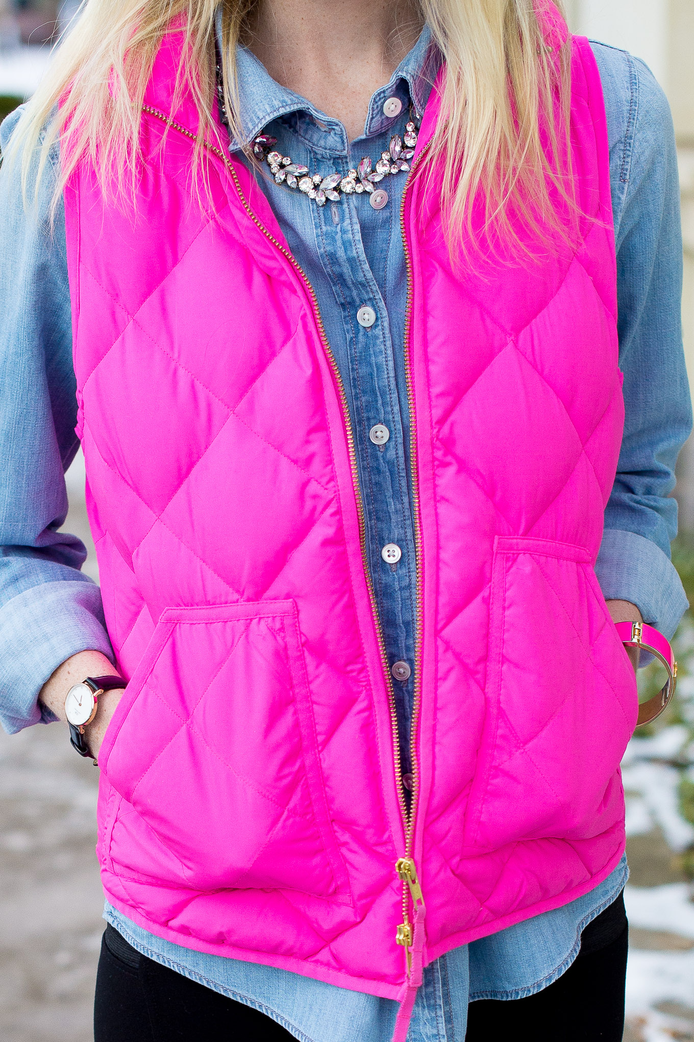 J.Crew Pink Excursion Vest-32