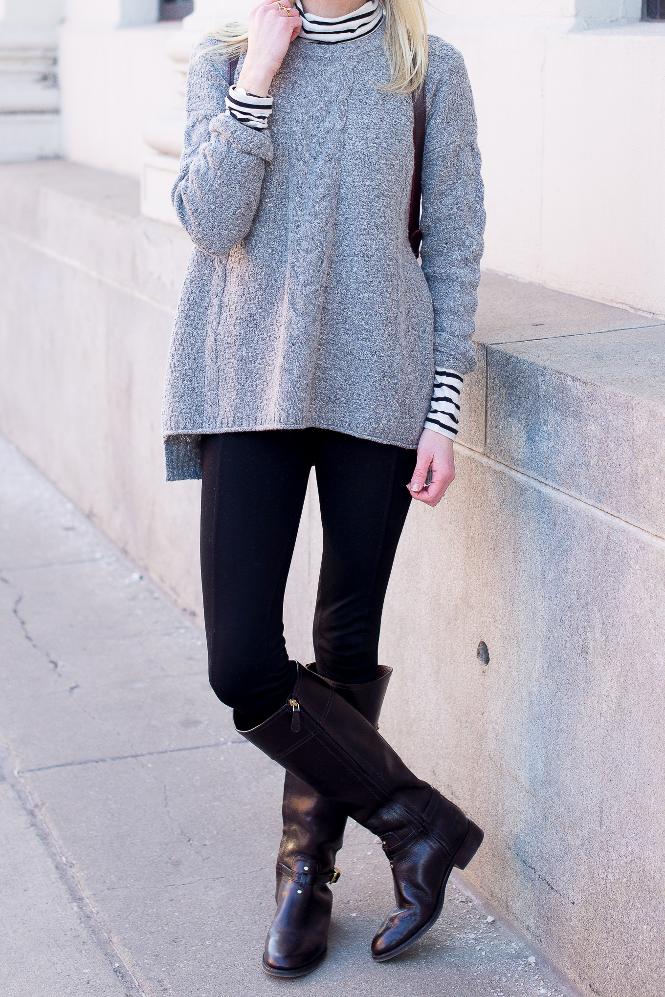 Madewell Cable Knit Sweater-1