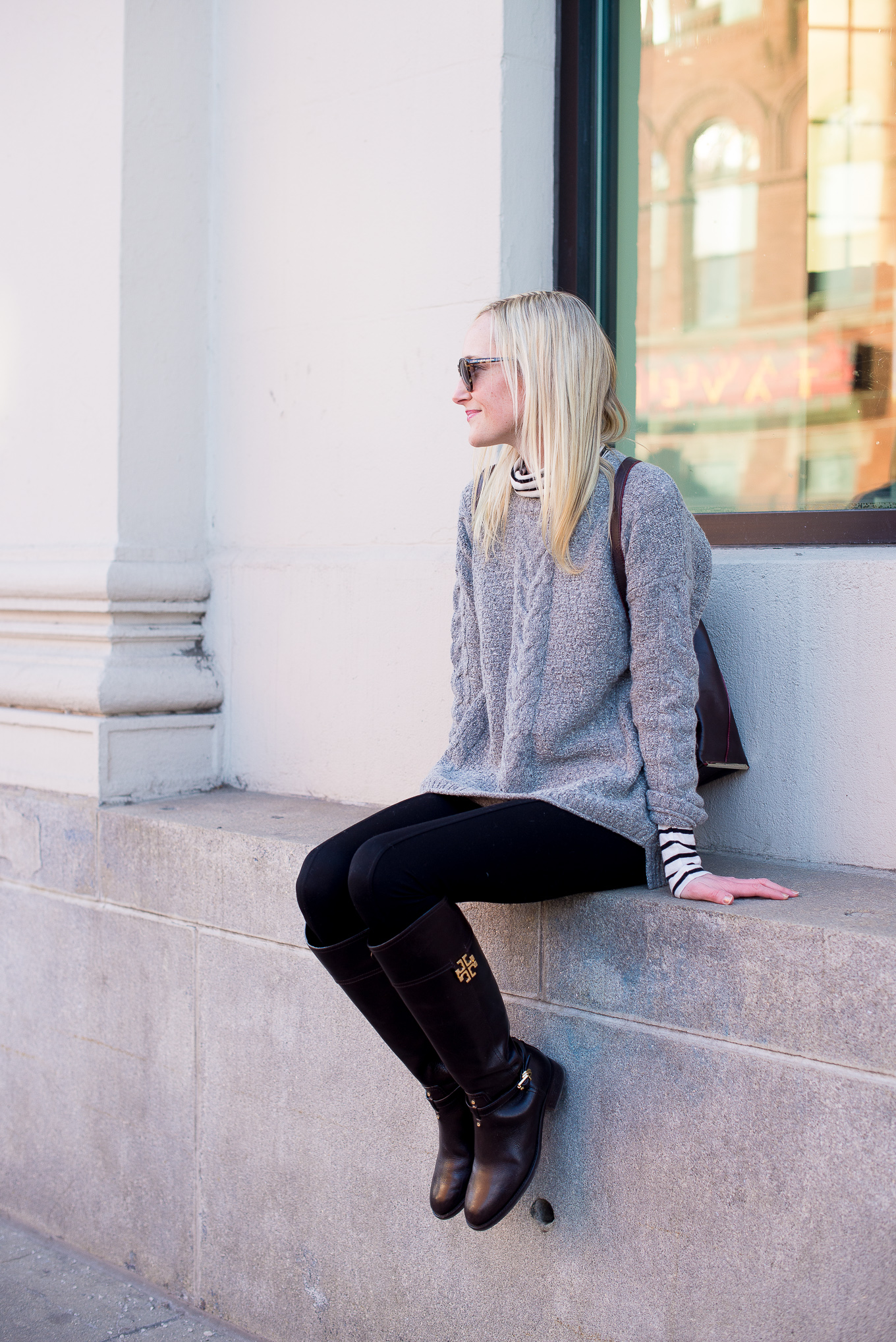 Madewell Cable Knit Sweater-13