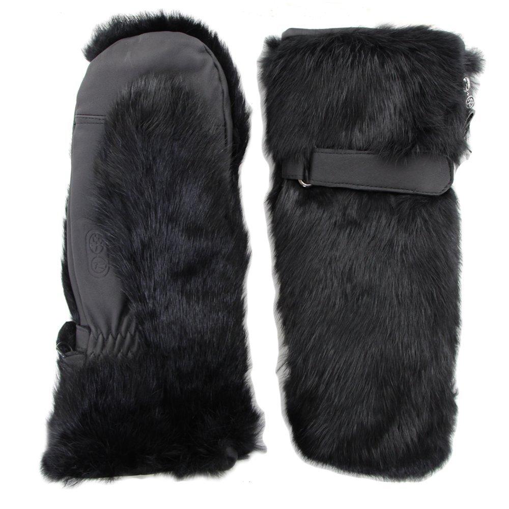 faux fur ski mittens