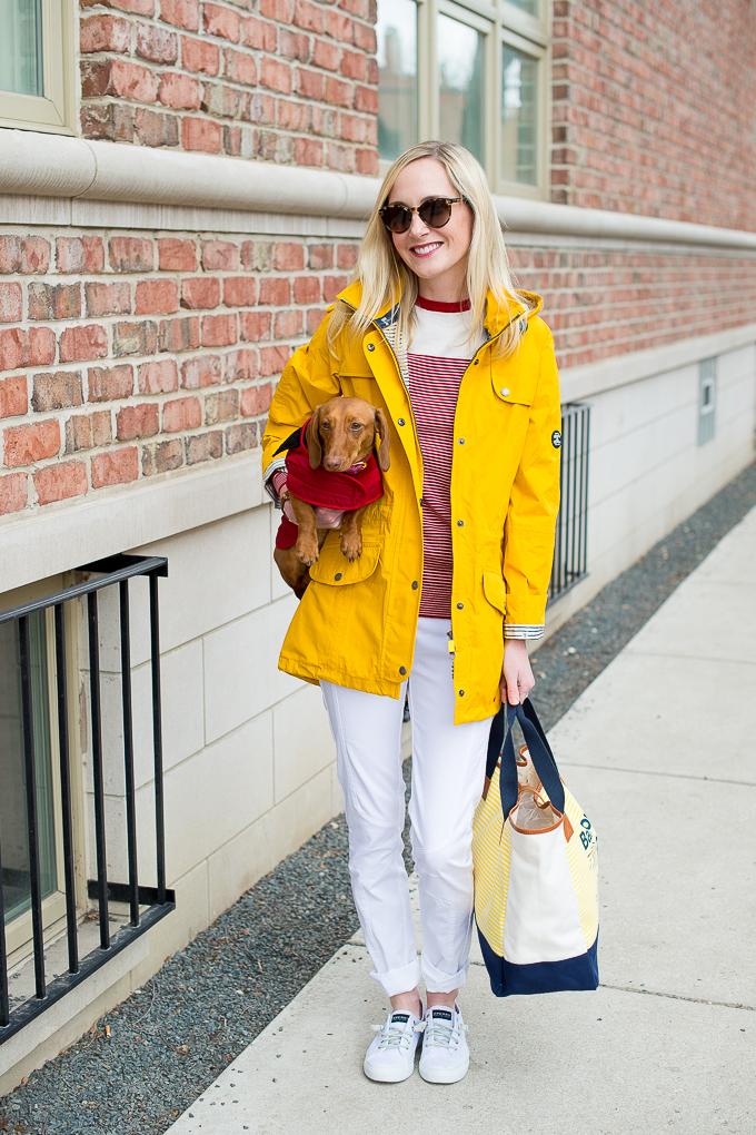 Barbour Yellow Raincoat Trevose-1