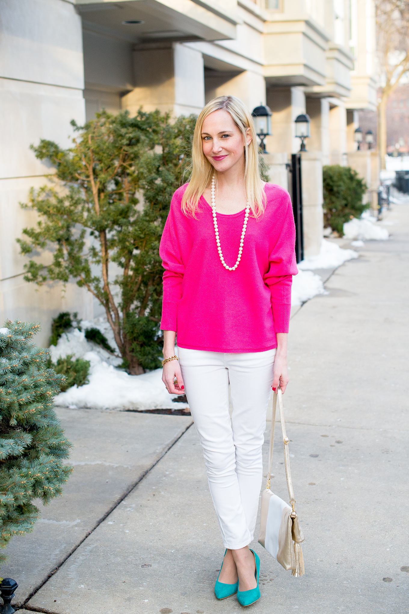 Garnet Hill Pink Cashmere Sweater-2