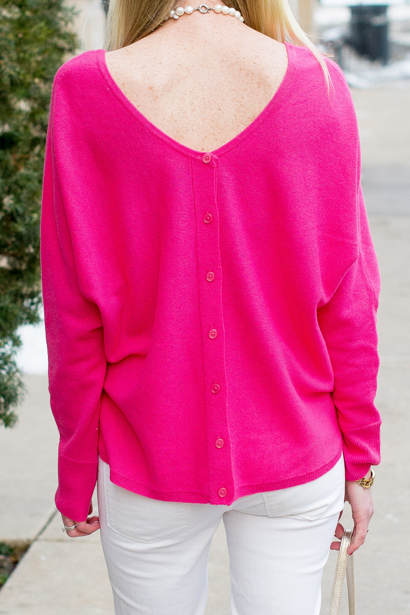 Garnet Hill Pink Cashmere Sweater-27