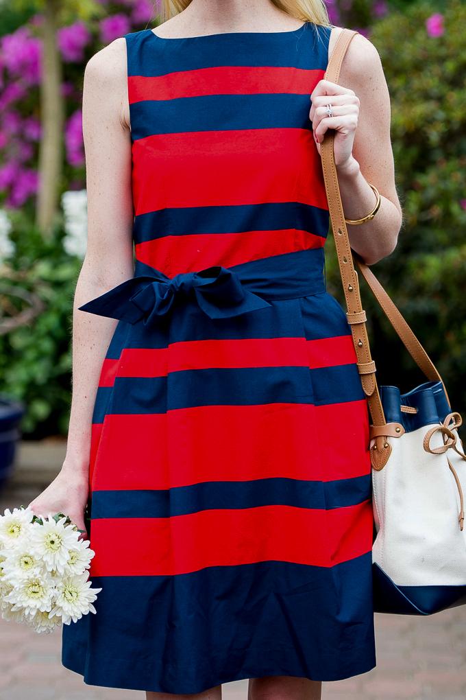 LLBean Signature Poplin Dress Bucket Bag-1