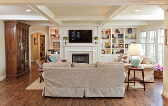 preppy living room