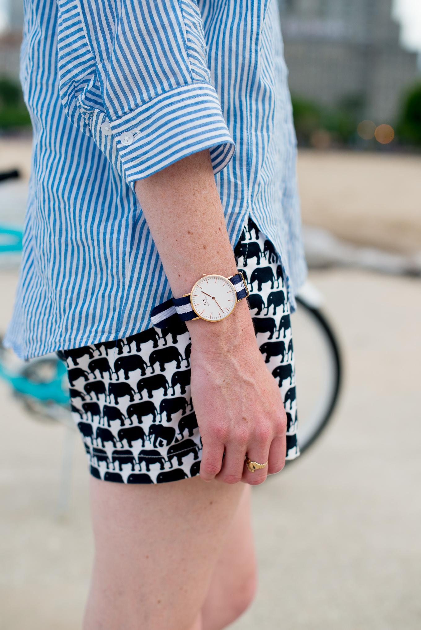 Preppy Elephant Shorts-24