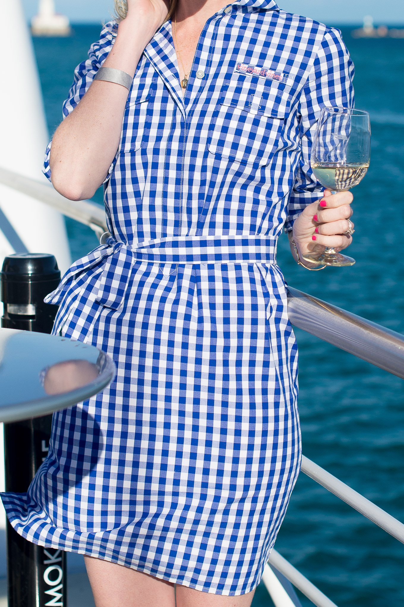 vineyard vines gingham dress-8