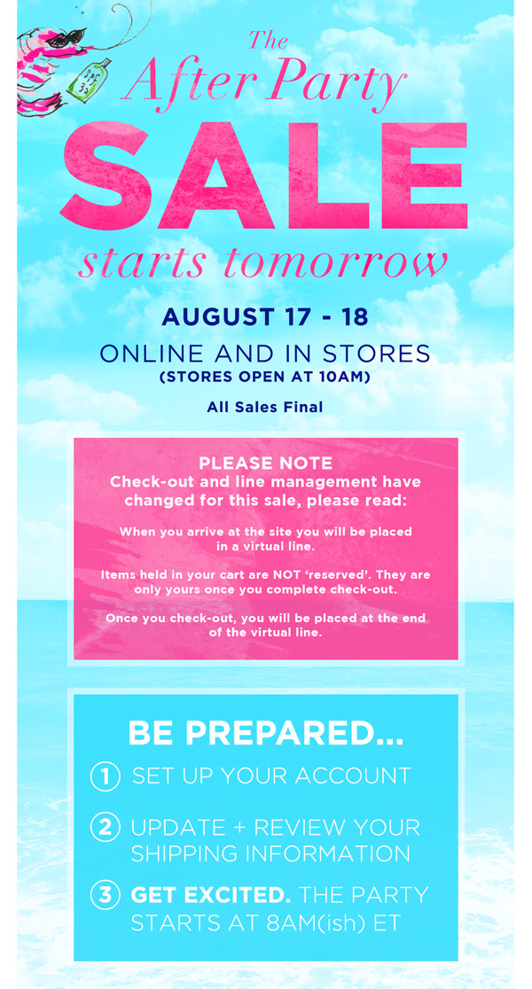 lilly pulitzer after sale august 2015
