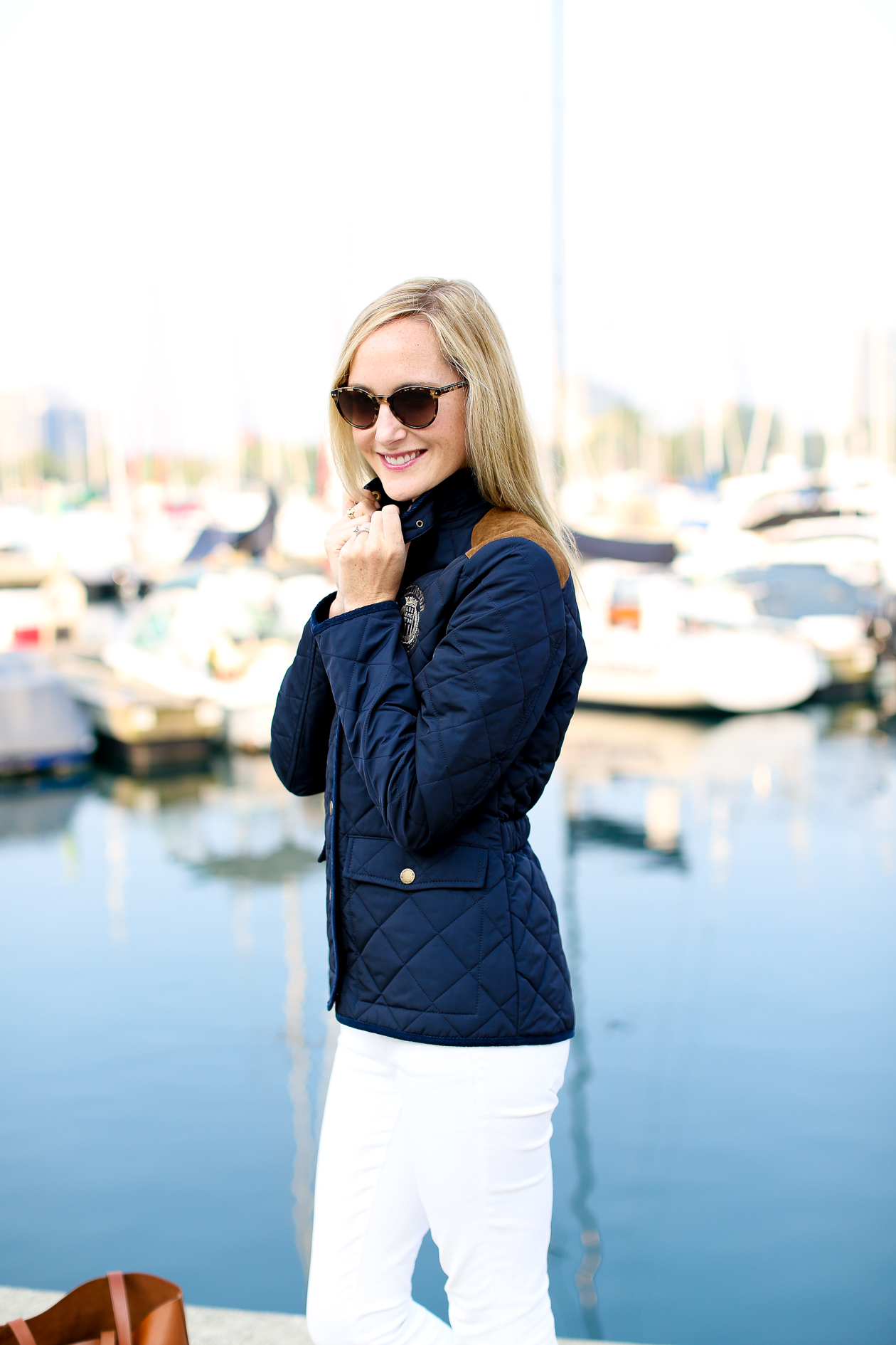 Lexington Navy Quilted Jacket-128