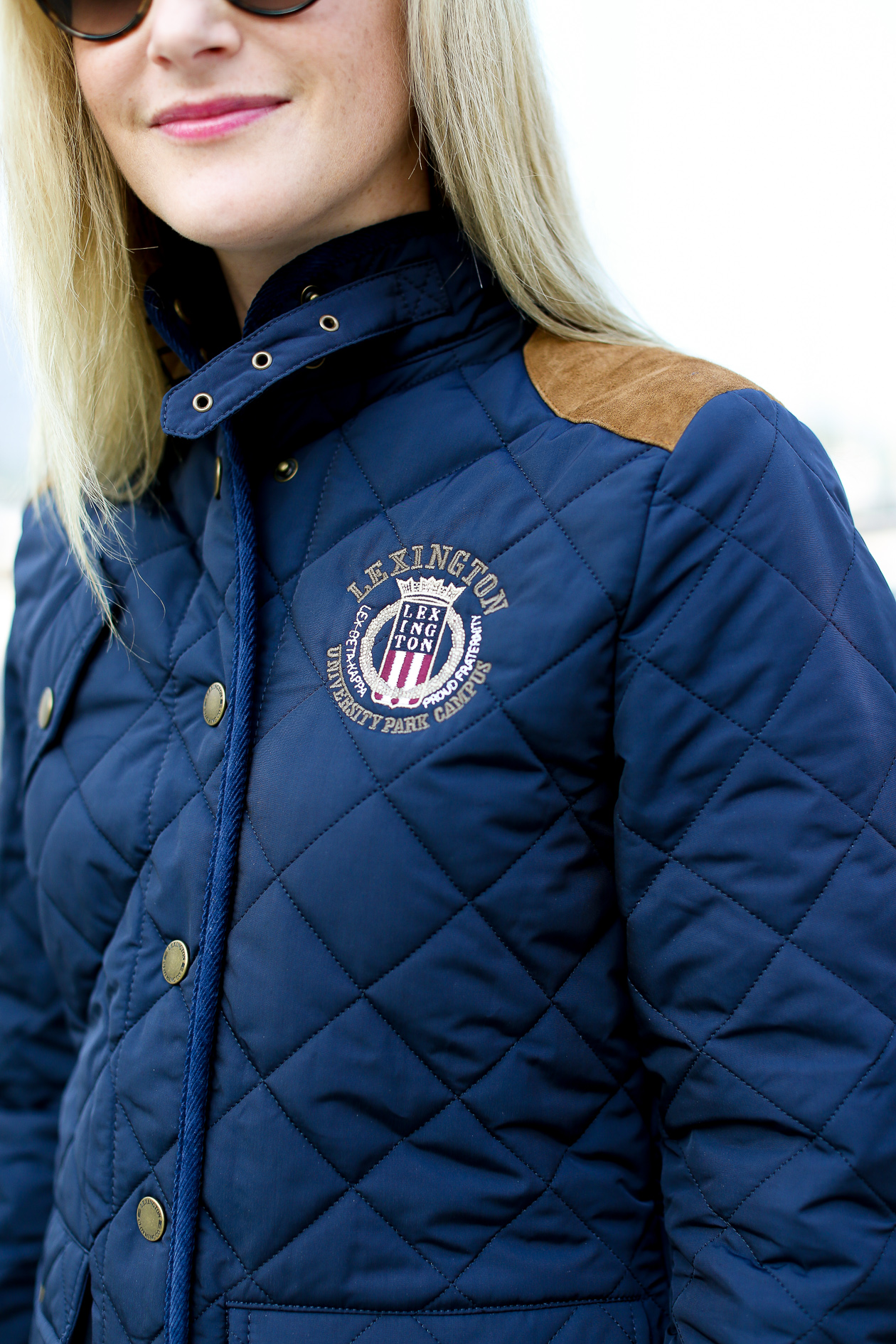Lexington Navy Quilted Jacket-130