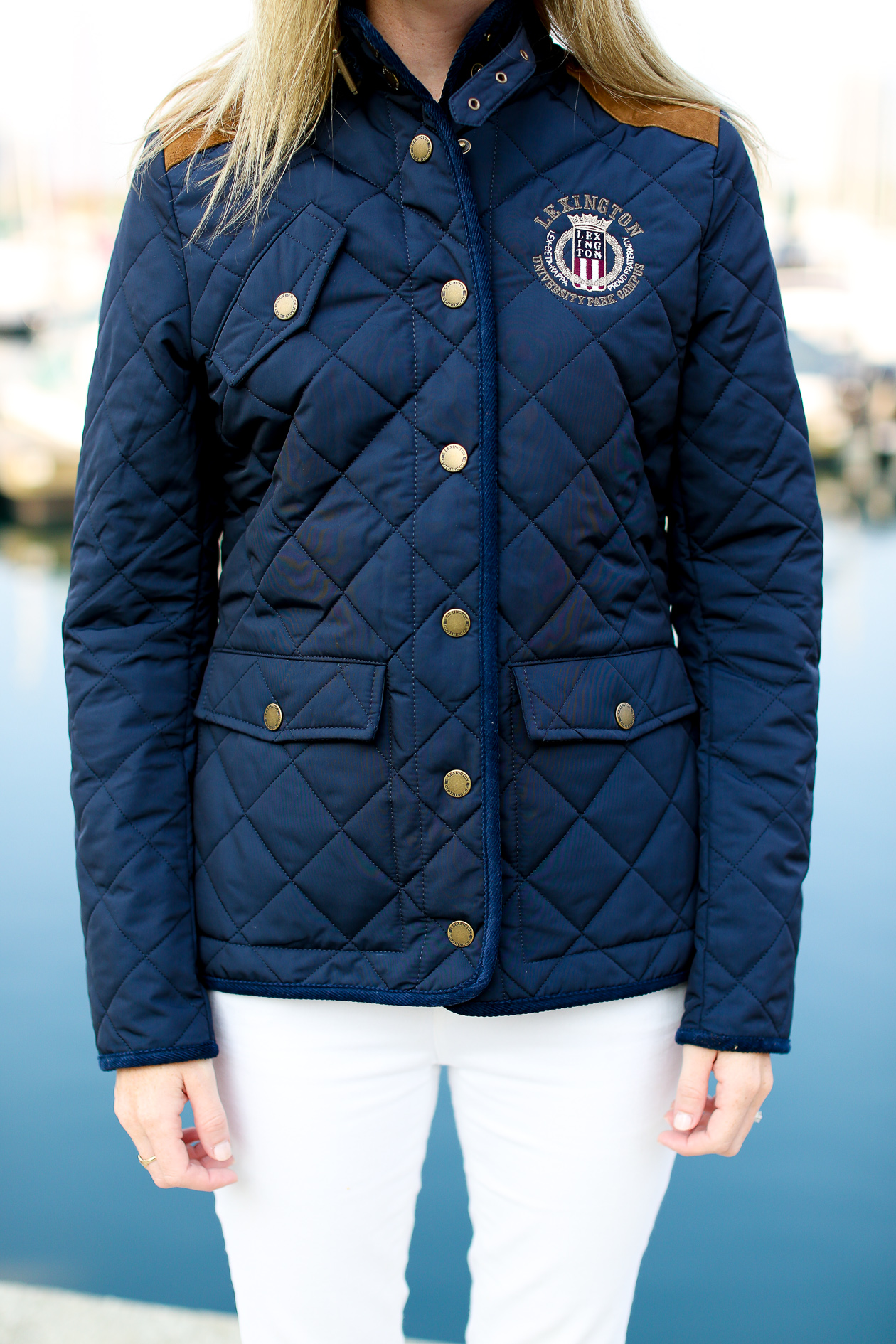 Lexington Navy Quilted Jacket-131