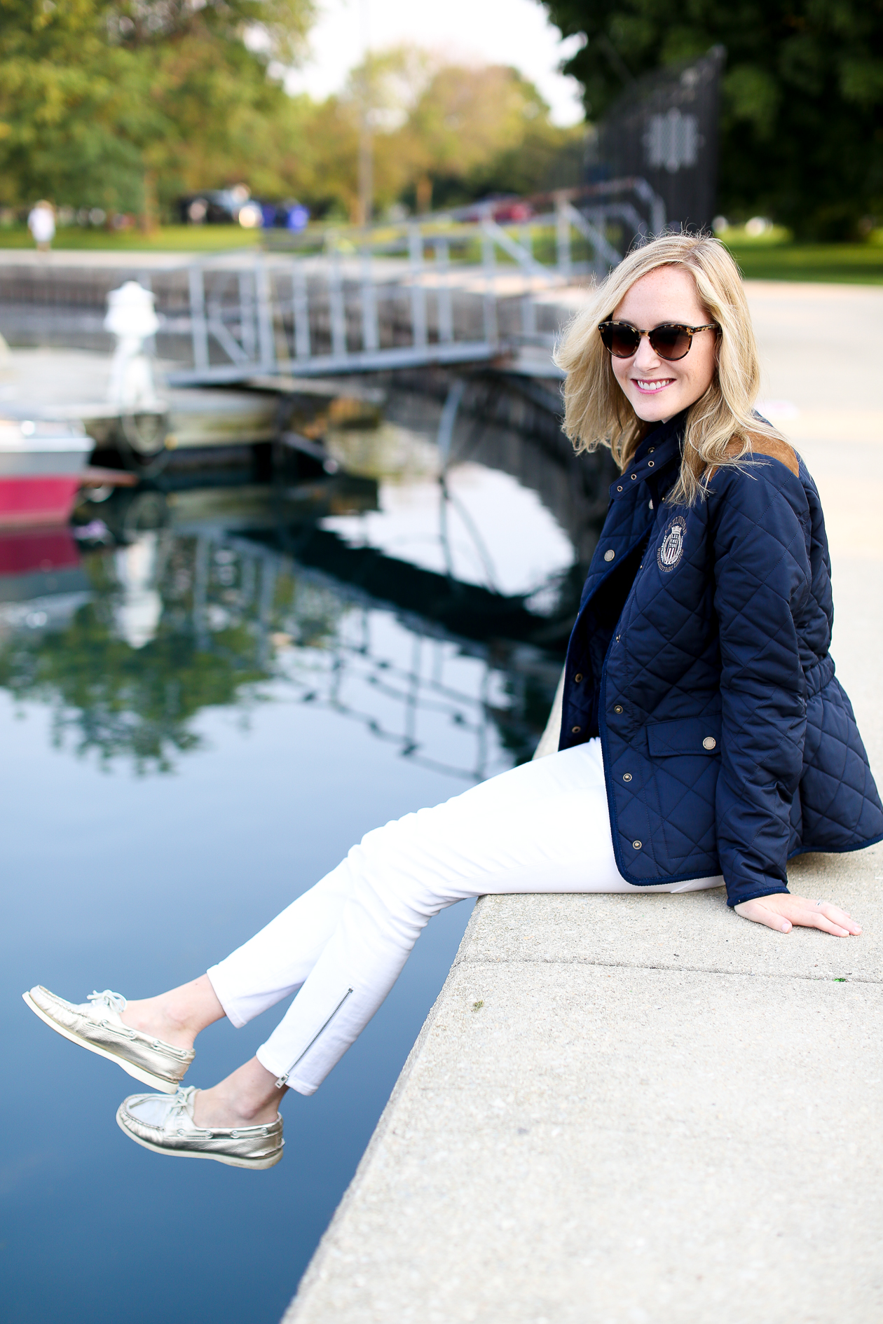 Lexington Navy Quilted Jacket-140