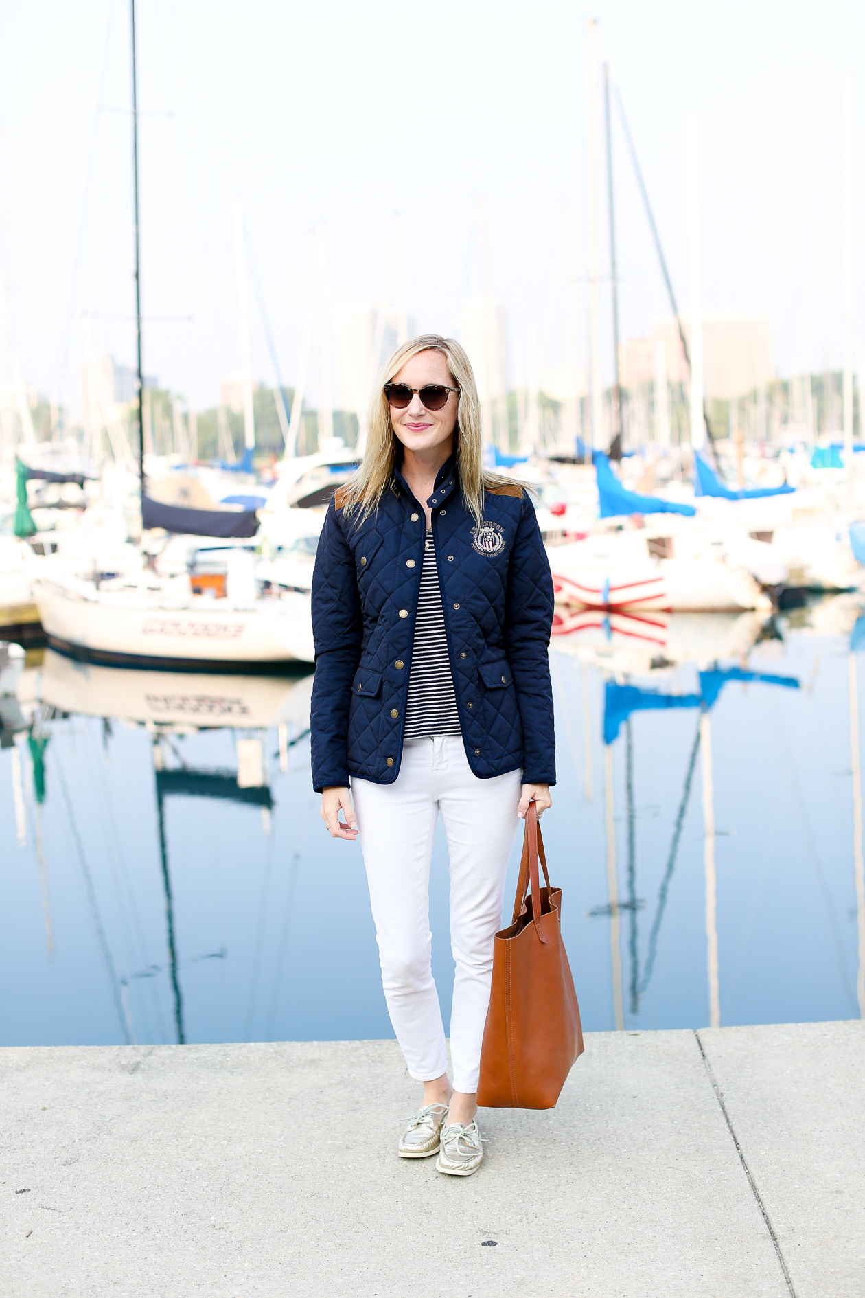Lexington Navy Quilted Jacket-2
