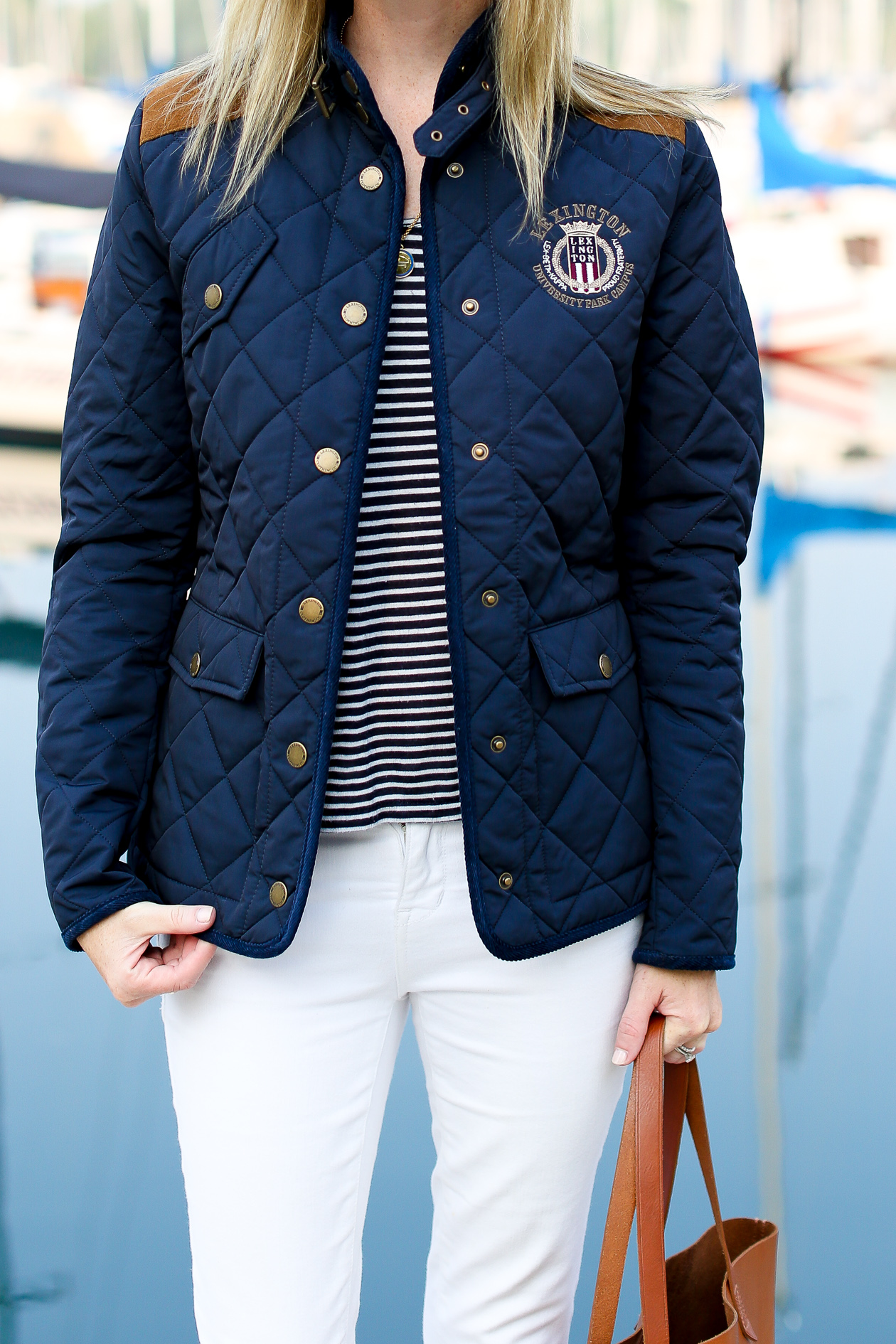 Lexington Navy Quilted Jacket-8