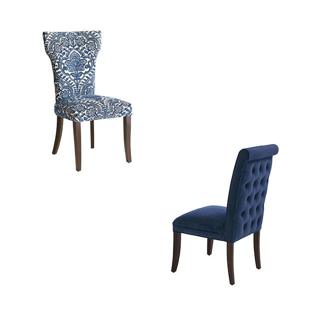 Blue Fabric Dining Chairs fabric dining chairs pier one preppy navy a intended ideas