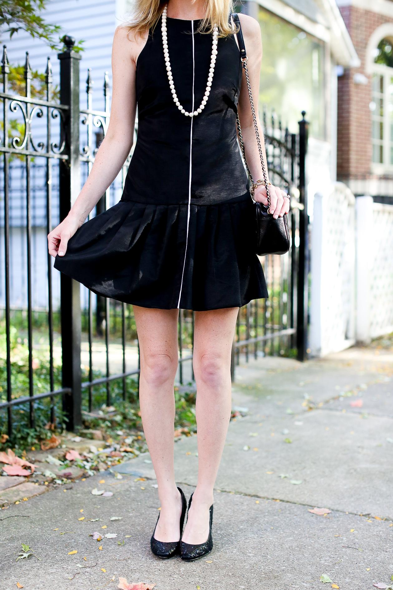 Camilyn Beth Black Ruffled Dress-48