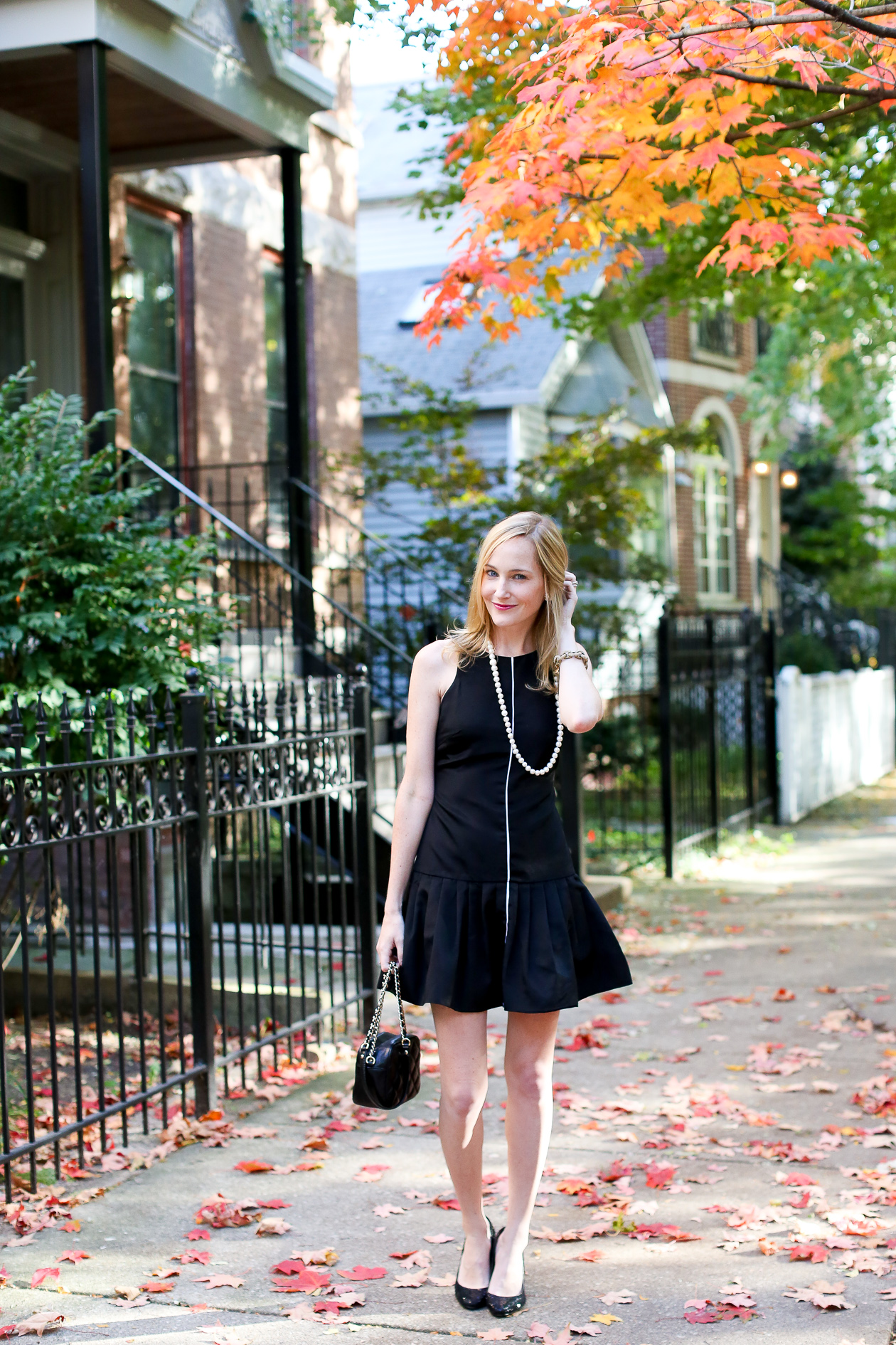 Camilyn Beth Black Ruffled Dress-7