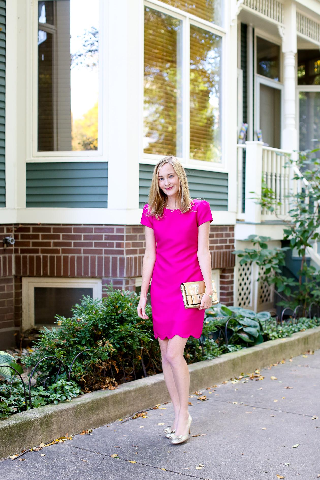 Camilyn Beth Scalloped Bridgette Dress-100